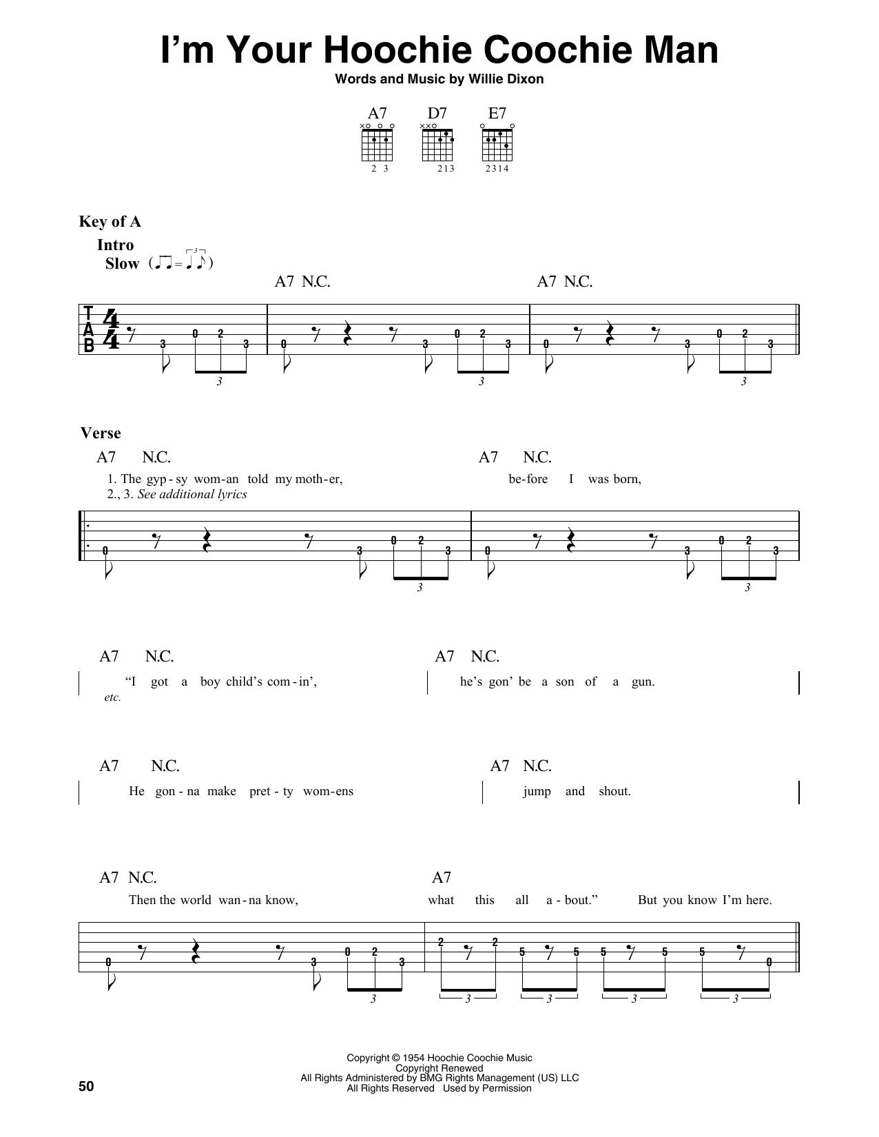 I'm Your Hoochie Coochie Man (Guitar Lead Sheet)