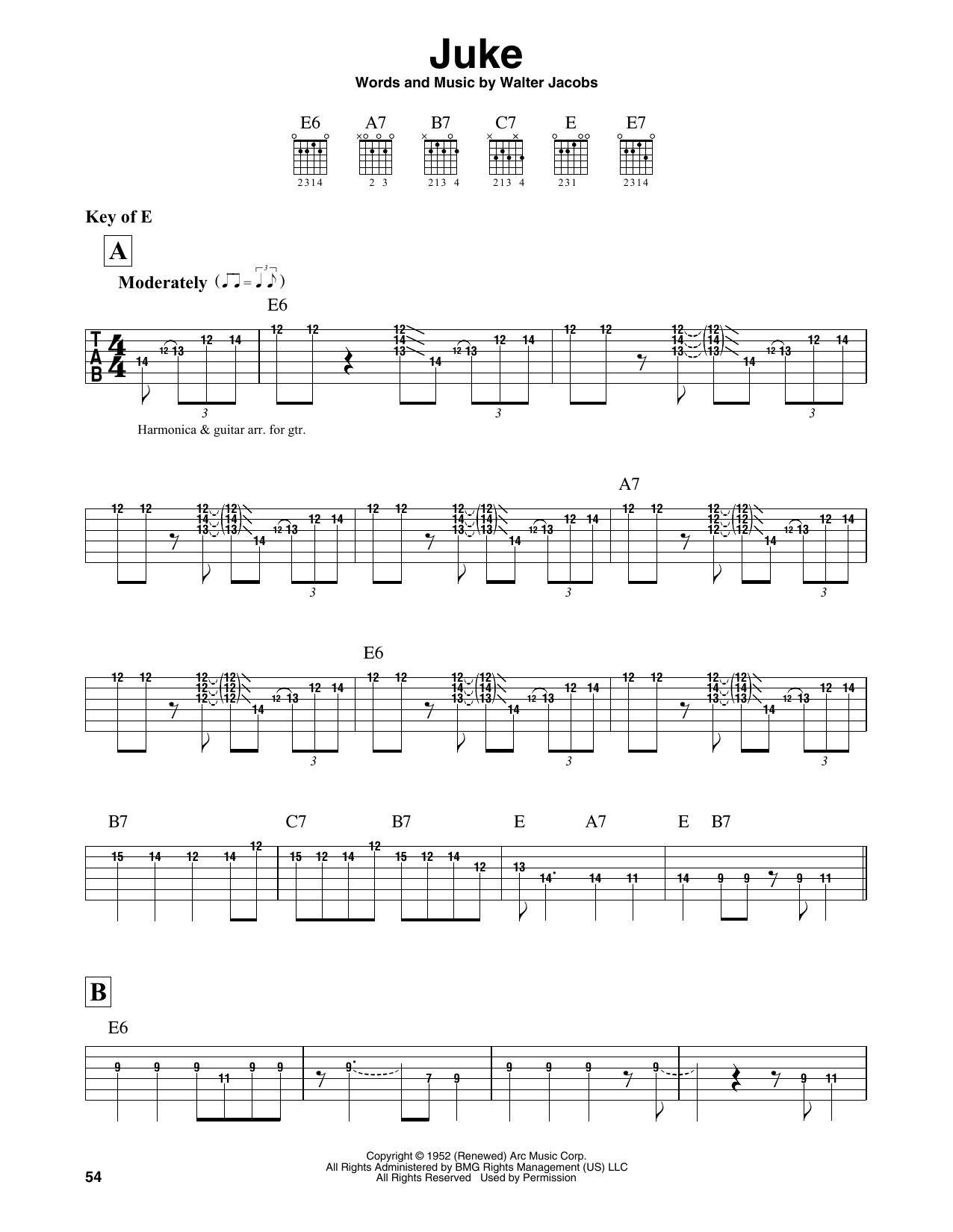 Juke (Guitar Lead Sheet)
