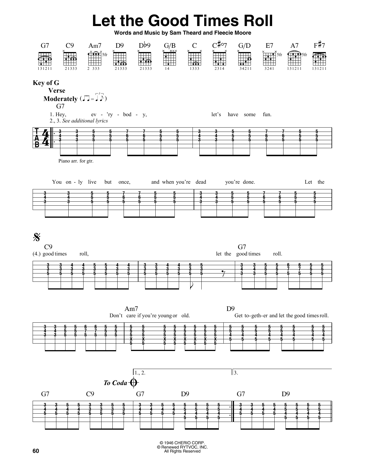 Let The Good Times Roll (Guitar Lead Sheet)
