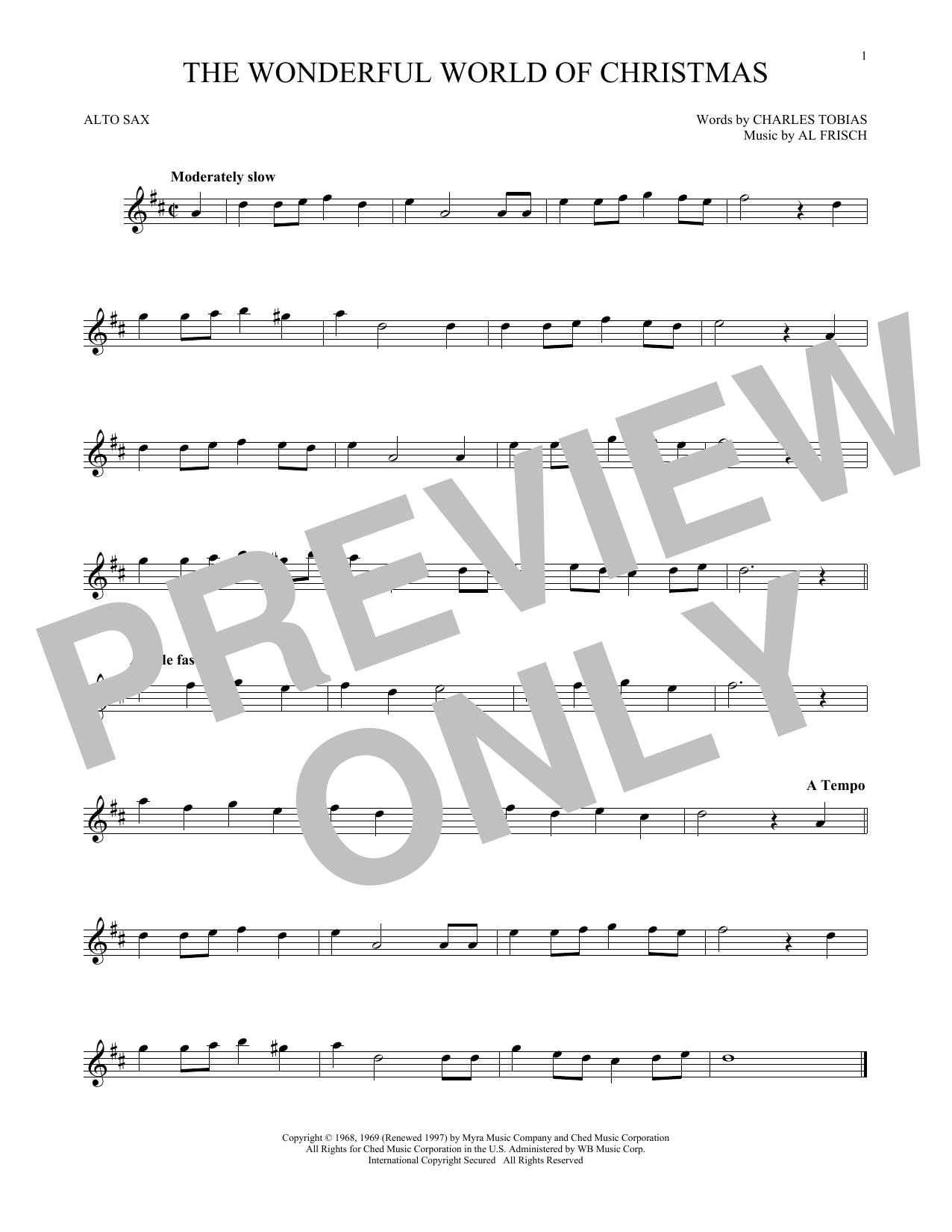 The Wonderful World Of Christmas (Alto Sax Solo)