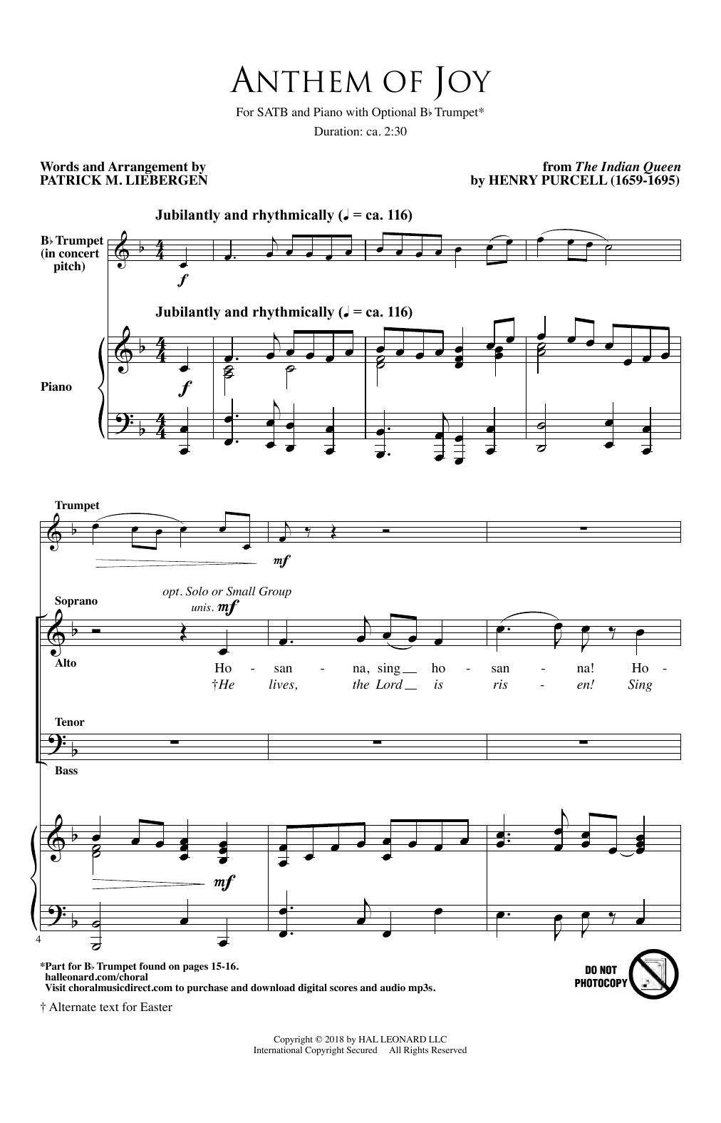 Anthem Of Joy (SATB Choir)