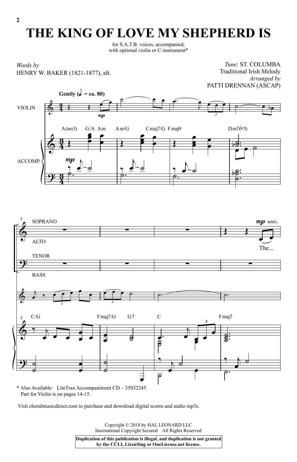 The King Of Love My Shepherd Is (arr. Patti Drennan) (SATB Choir)
