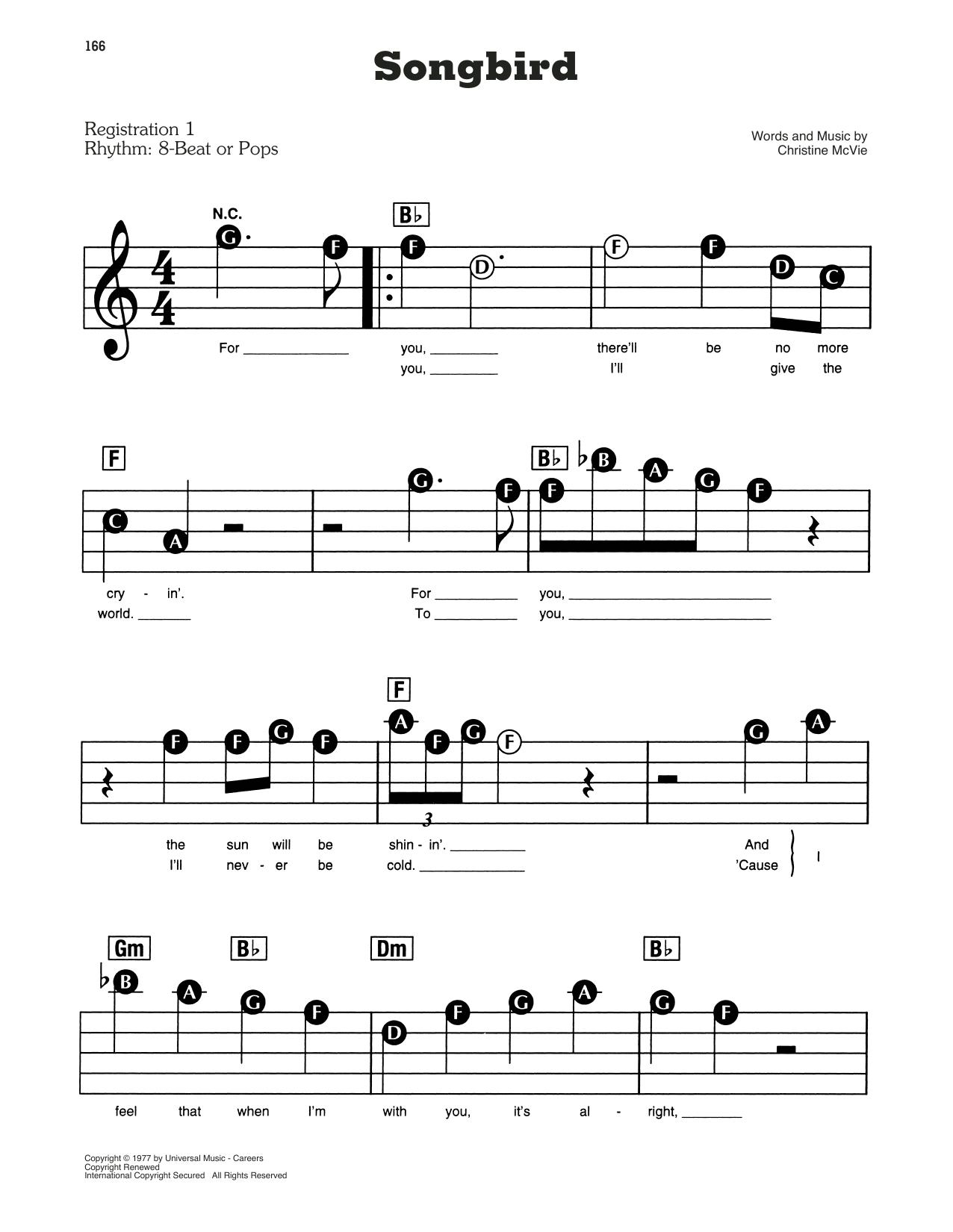Songbird (E-Z Play Today)
