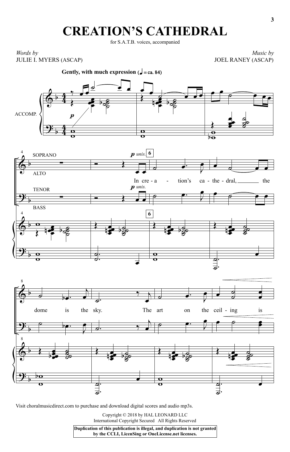 Creation's Cathedral (SATB Choir)