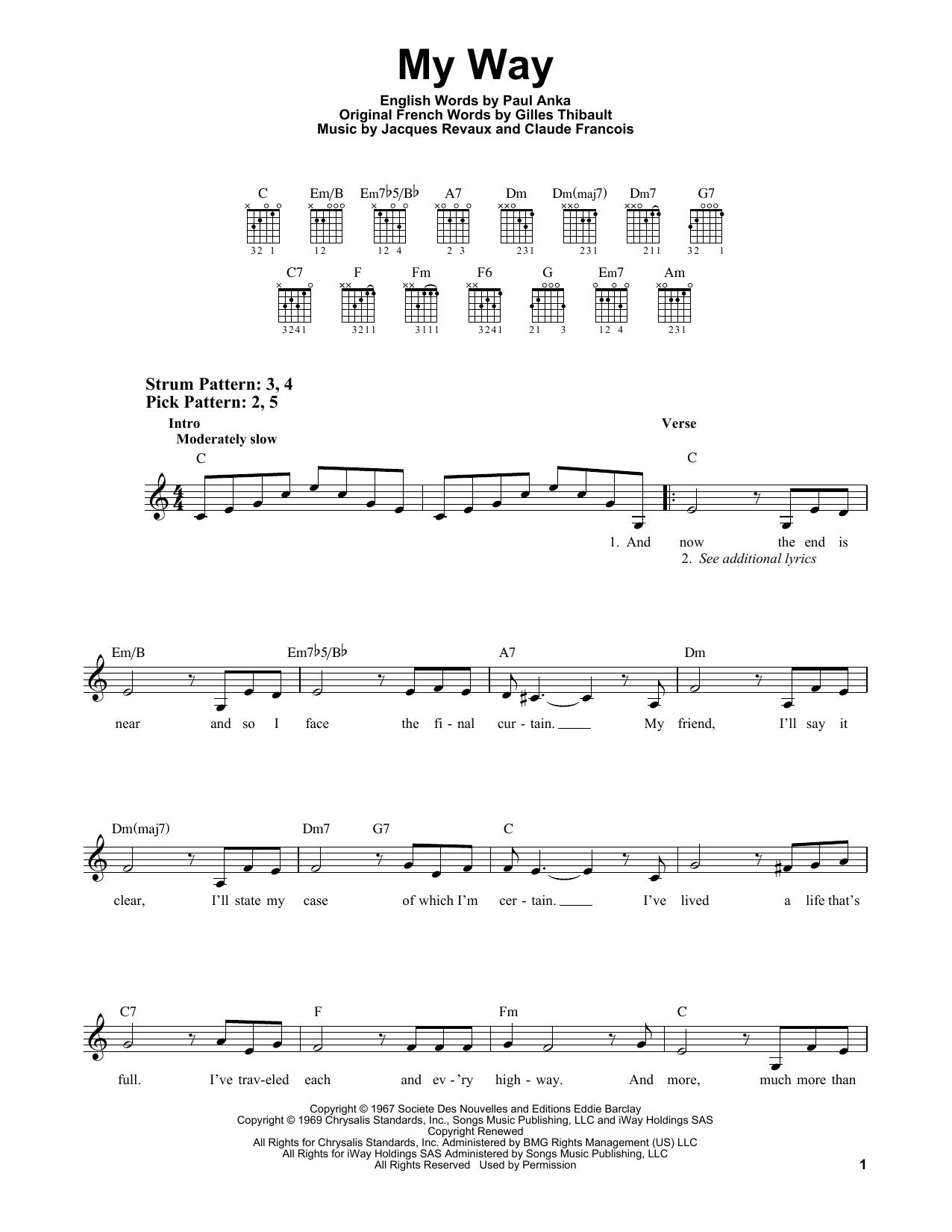 My Way (Easy Guitar)