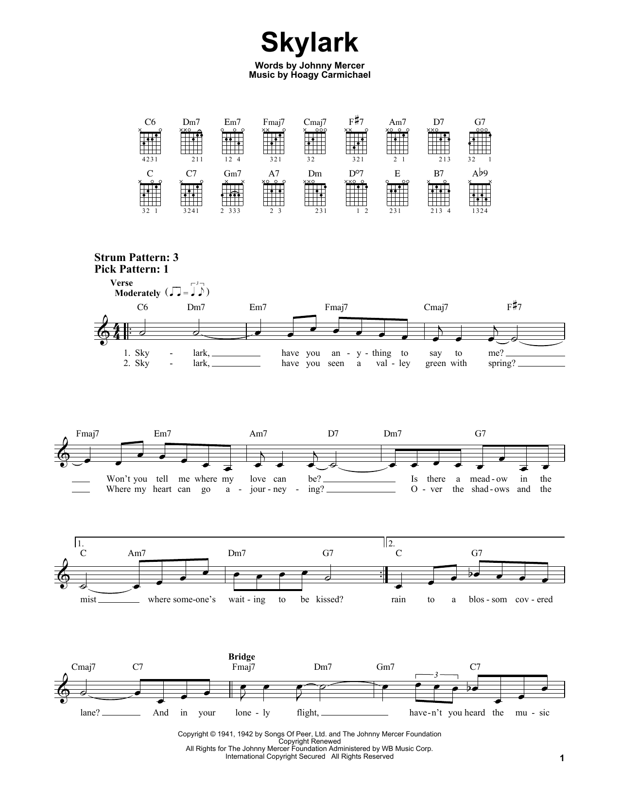 Skylark (Easy Guitar)