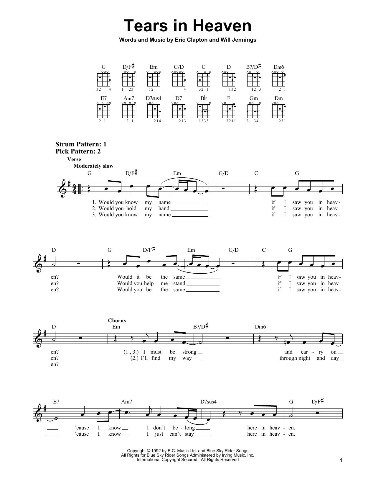 Tears In Heaven (Easy Guitar)