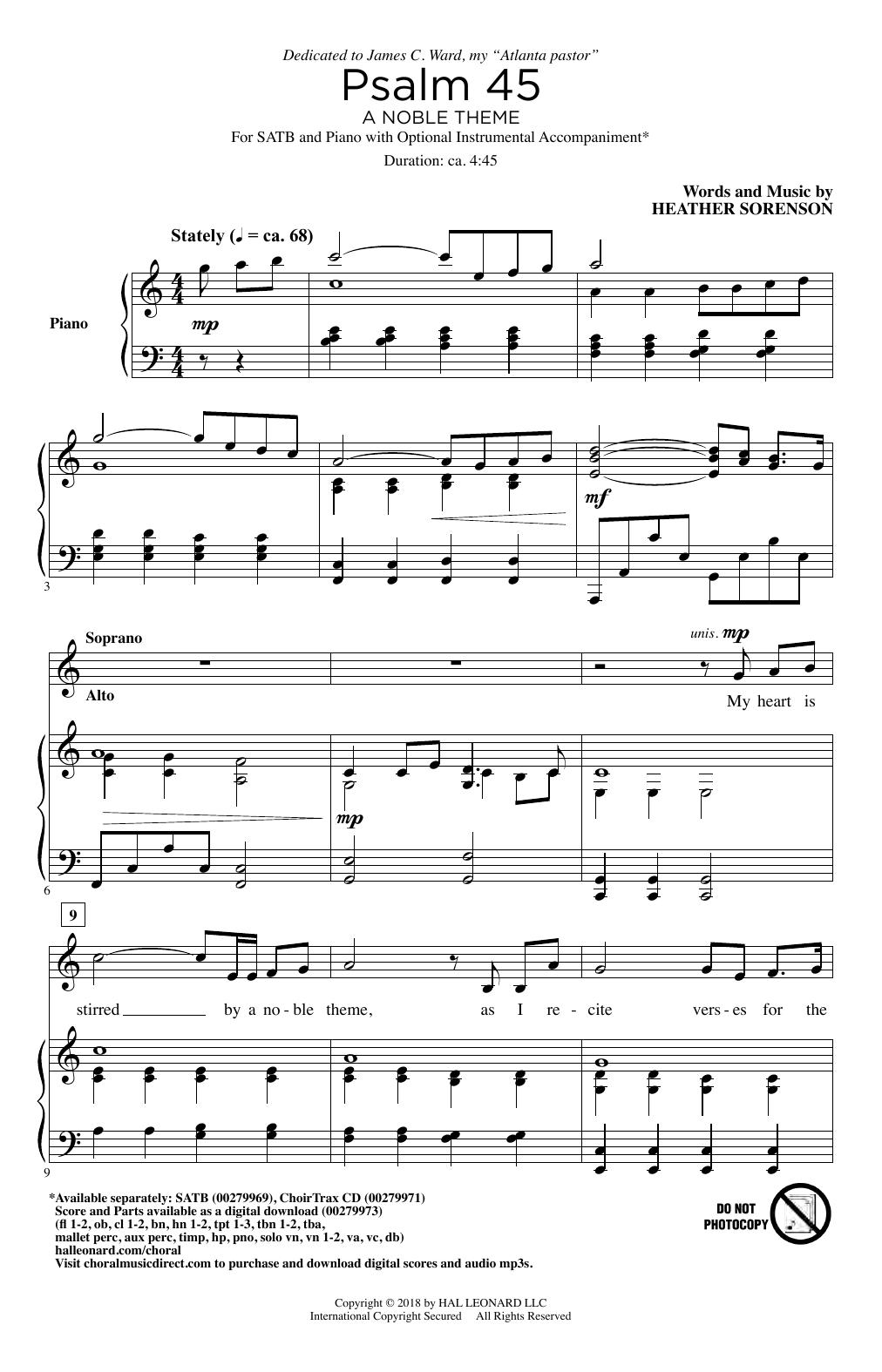 Psalm 45 (A Noble Theme) (SATB Choir)