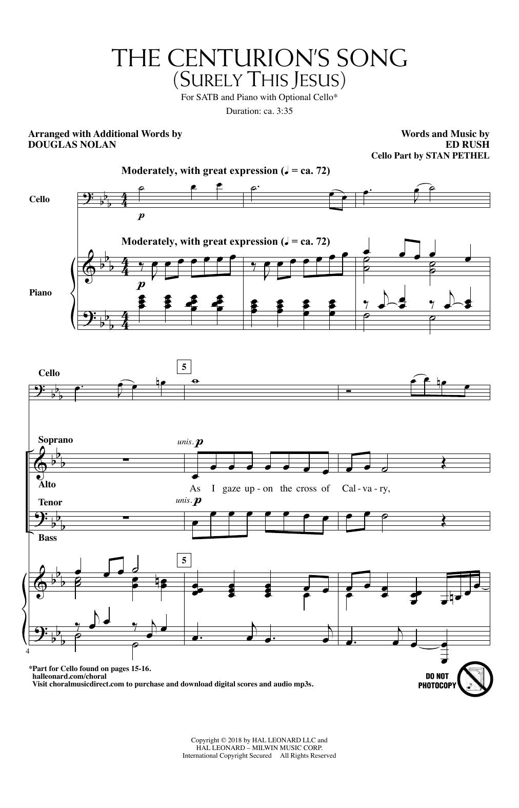 The Centurion's Song (Surely This Jesus) (arr. Douglas Nolan) (SATB Choir)