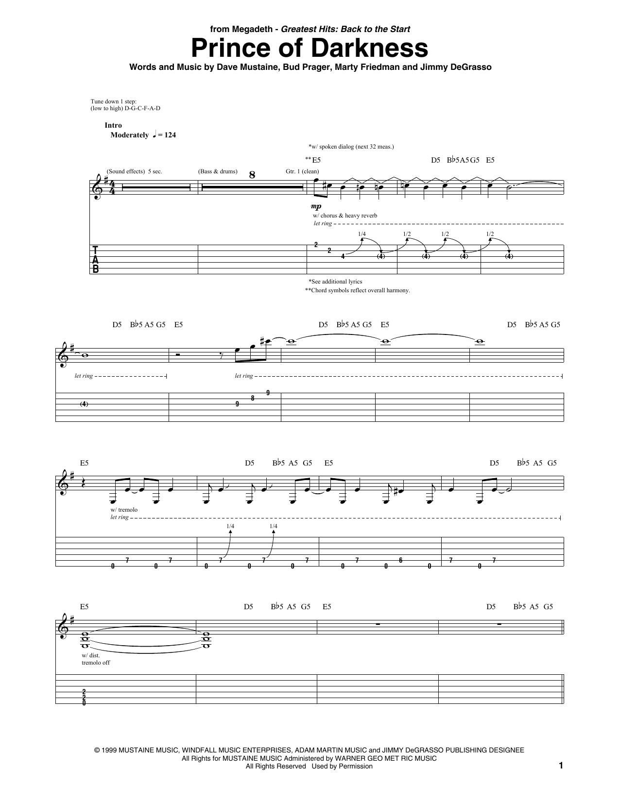 Prince Of Darkness (Guitar Tab)