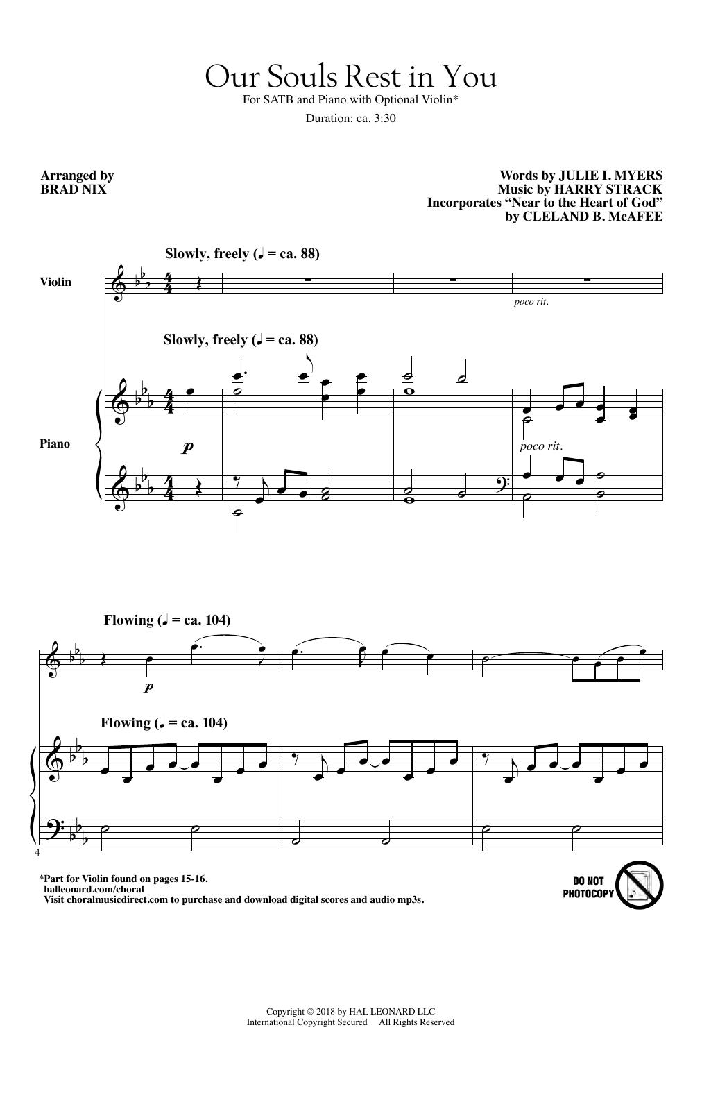 Our Souls Rest In You (arr. Brad Nix) (SATB Choir)