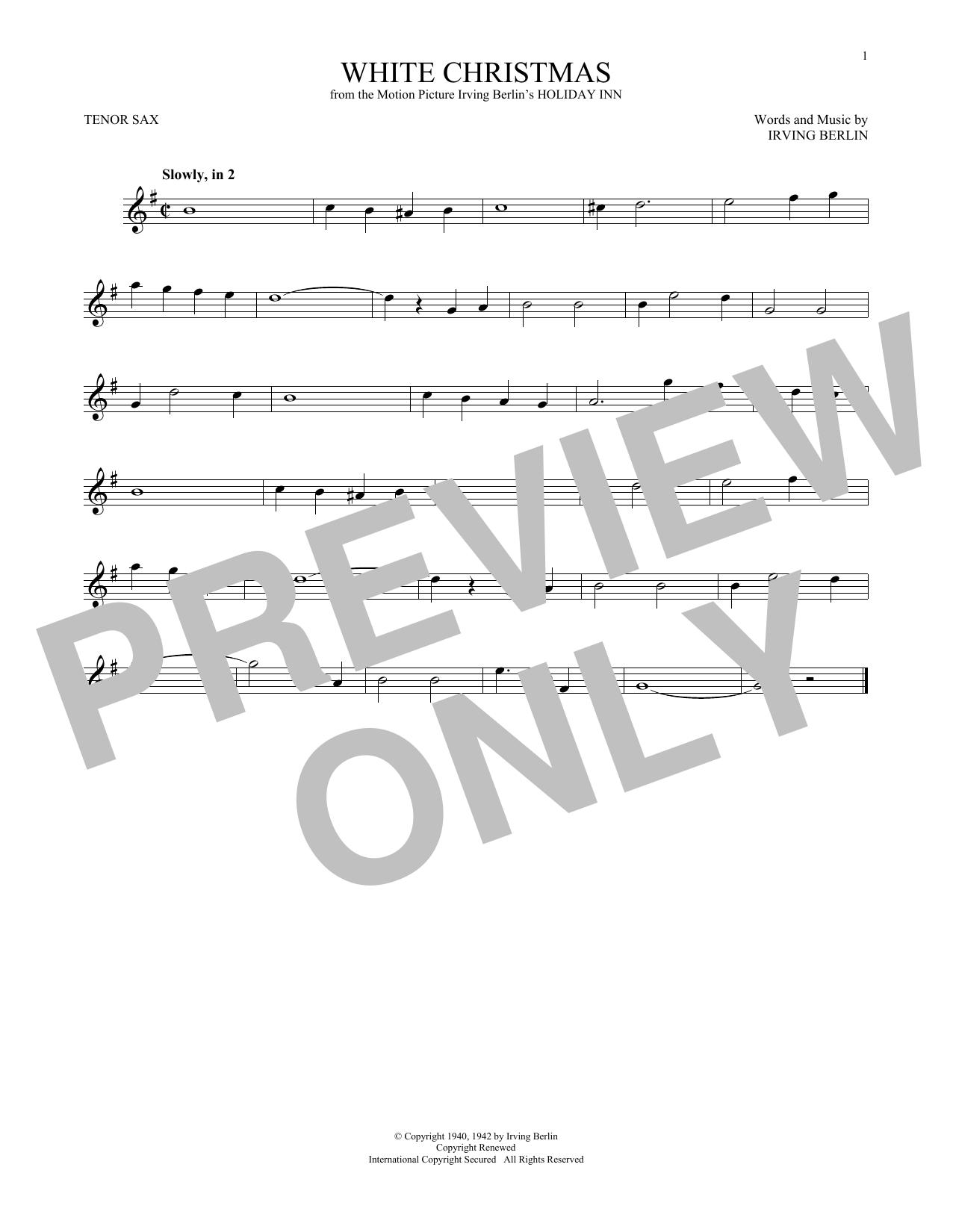 White Christmas (Tenor Sax Solo)