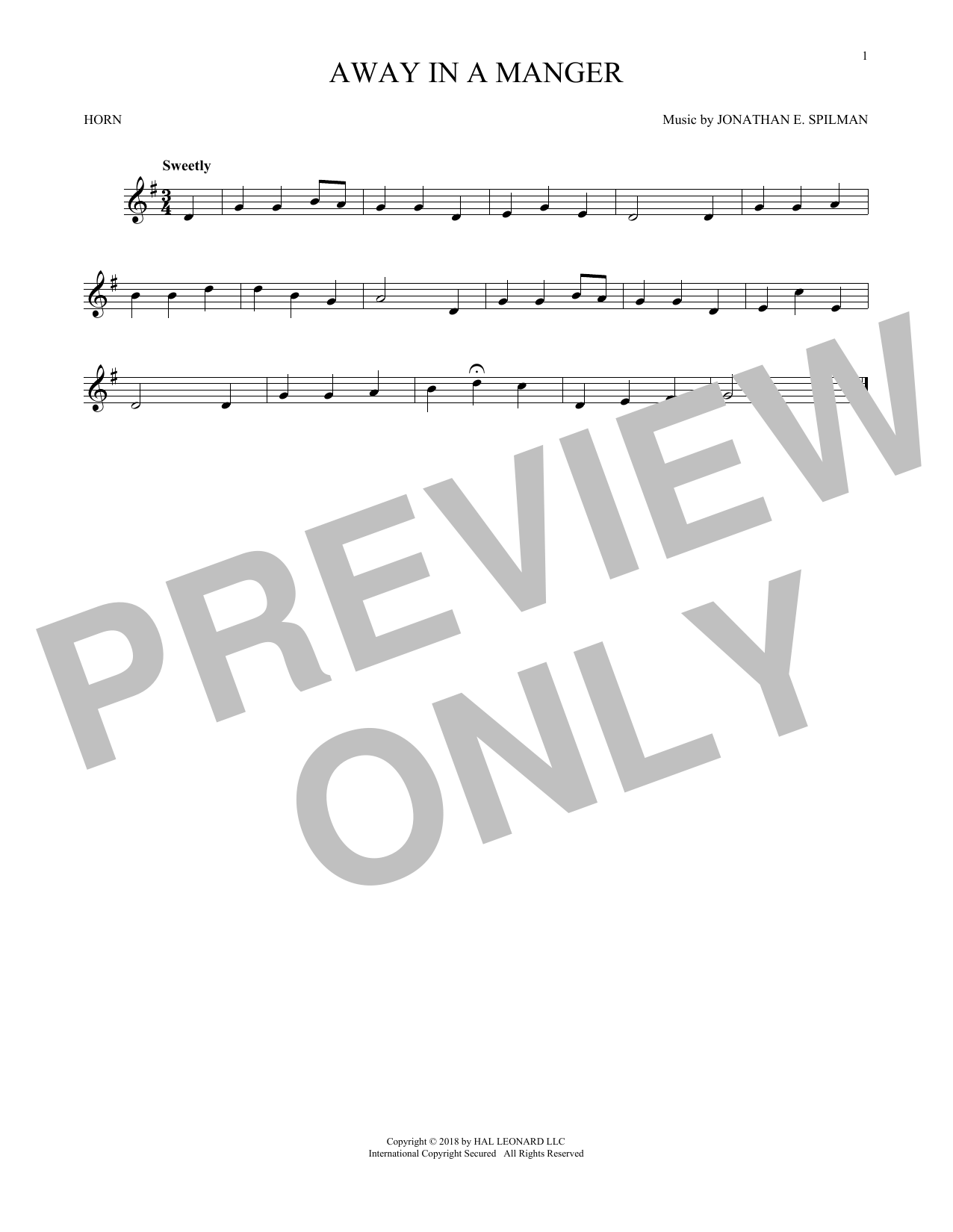 Away In A Manger (French Horn Solo)