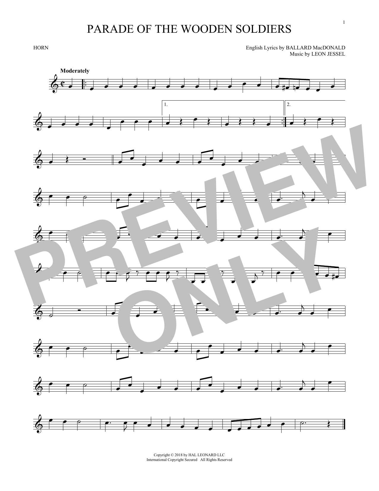 Parade Of The Wooden Soldiers (French Horn Solo)