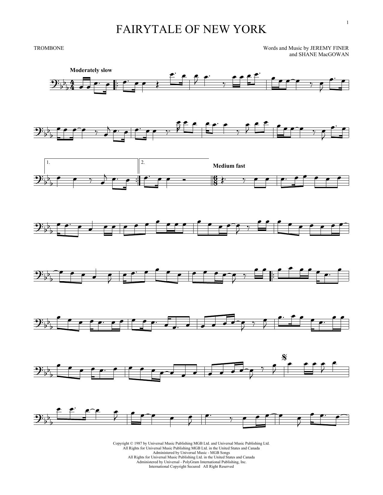 Fairytale Of New York (Trombone Solo)