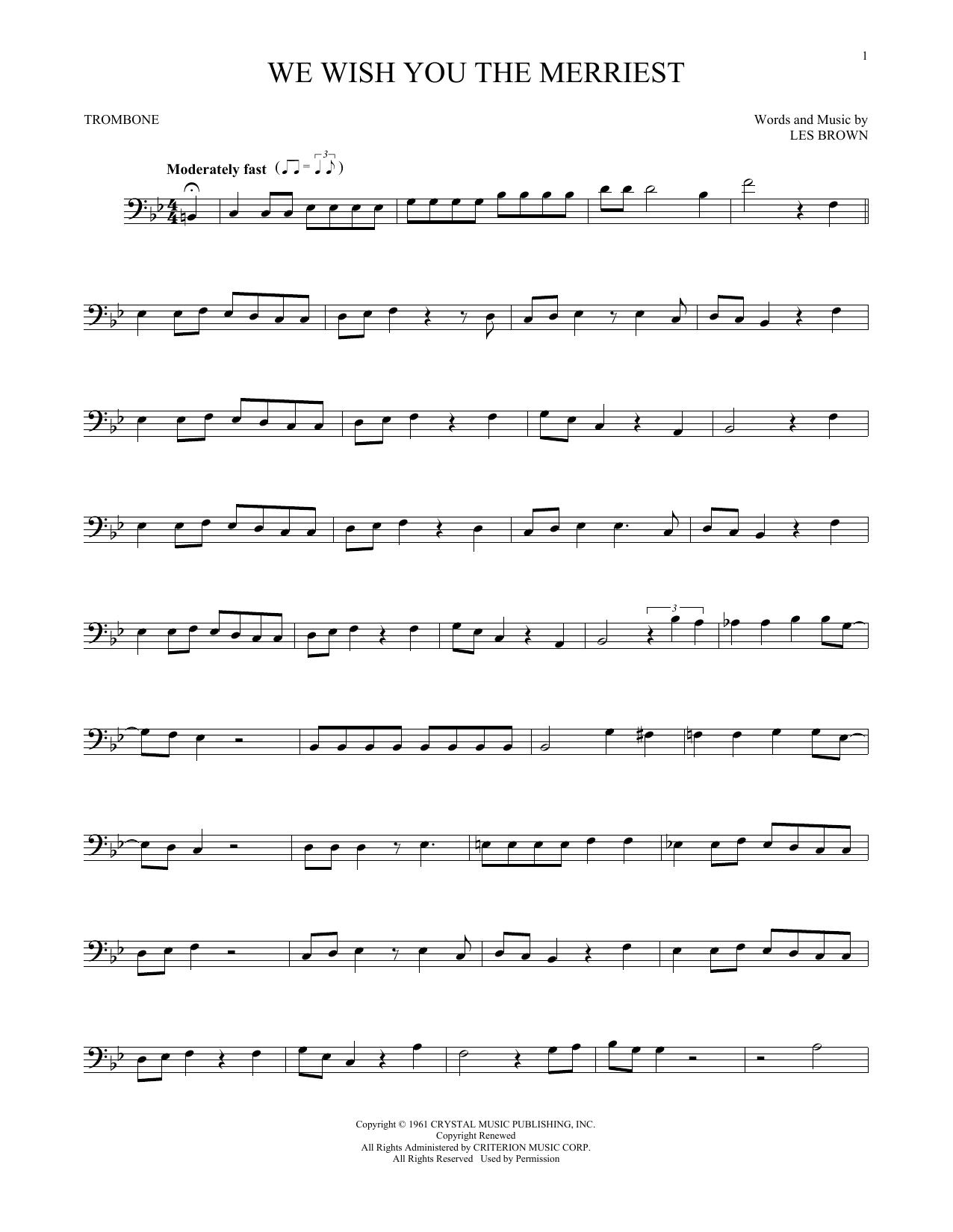 We Wish You The Merriest (Trombone Solo)