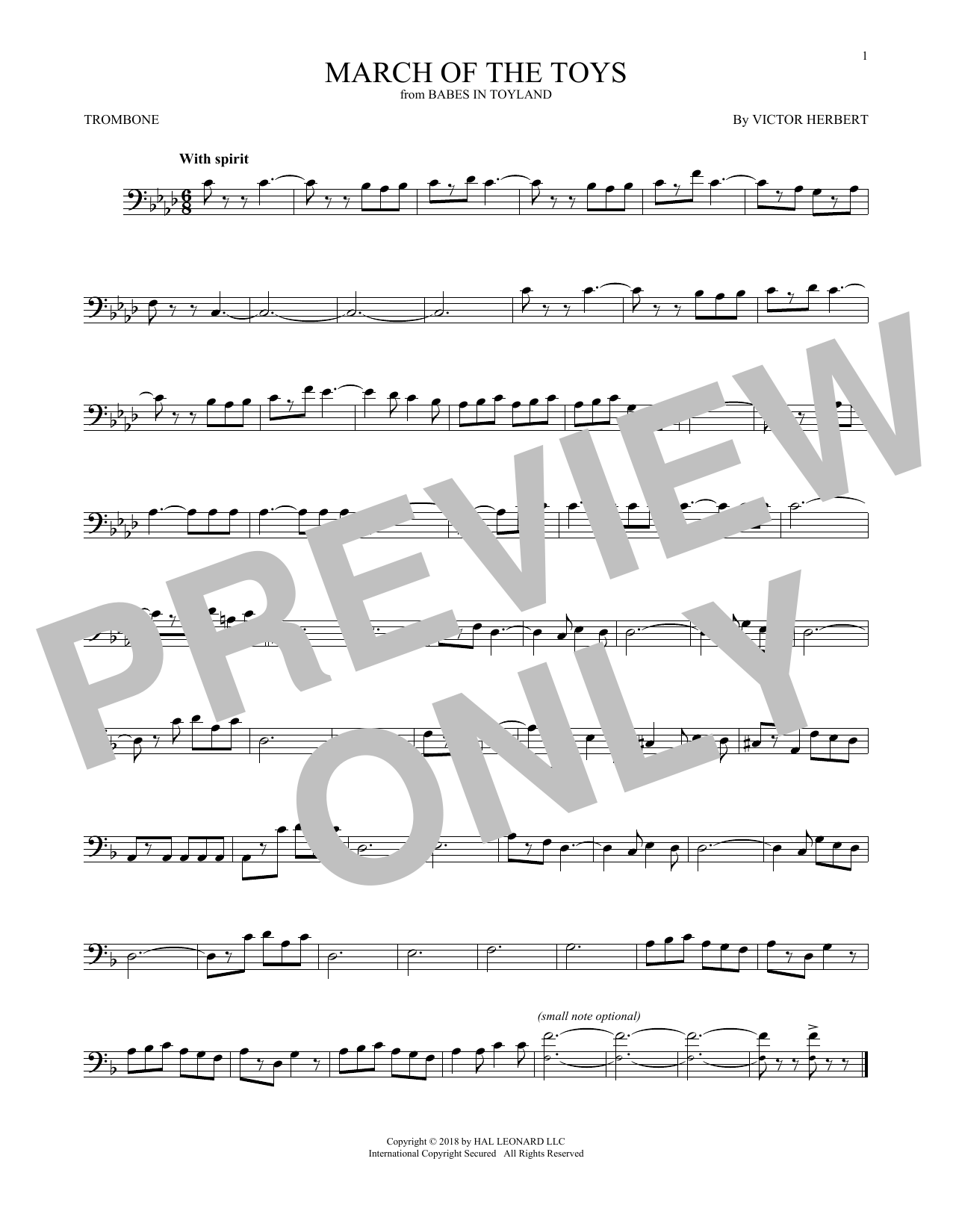 March Of The Toys (from Babes In Toyland) (Trombone Solo)