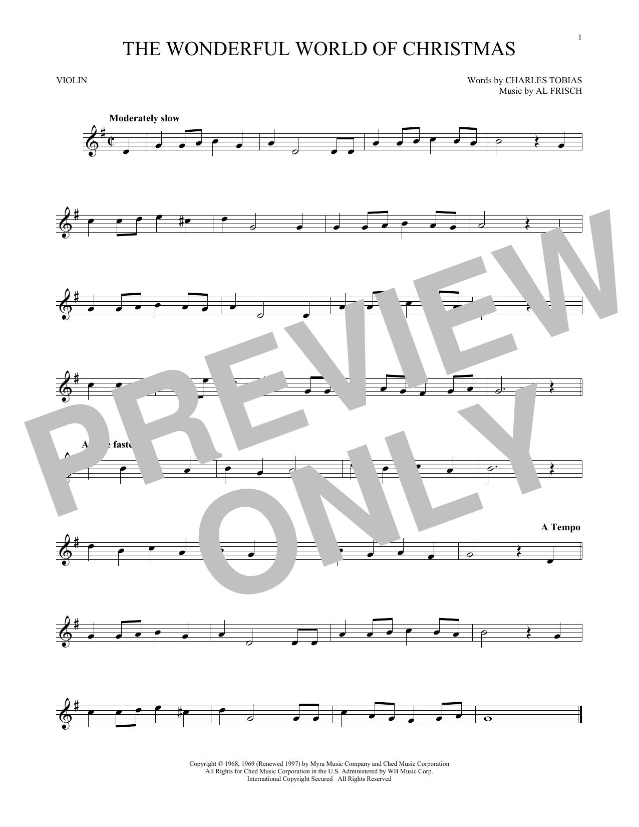 The Wonderful World Of Christmas (Violin Solo)