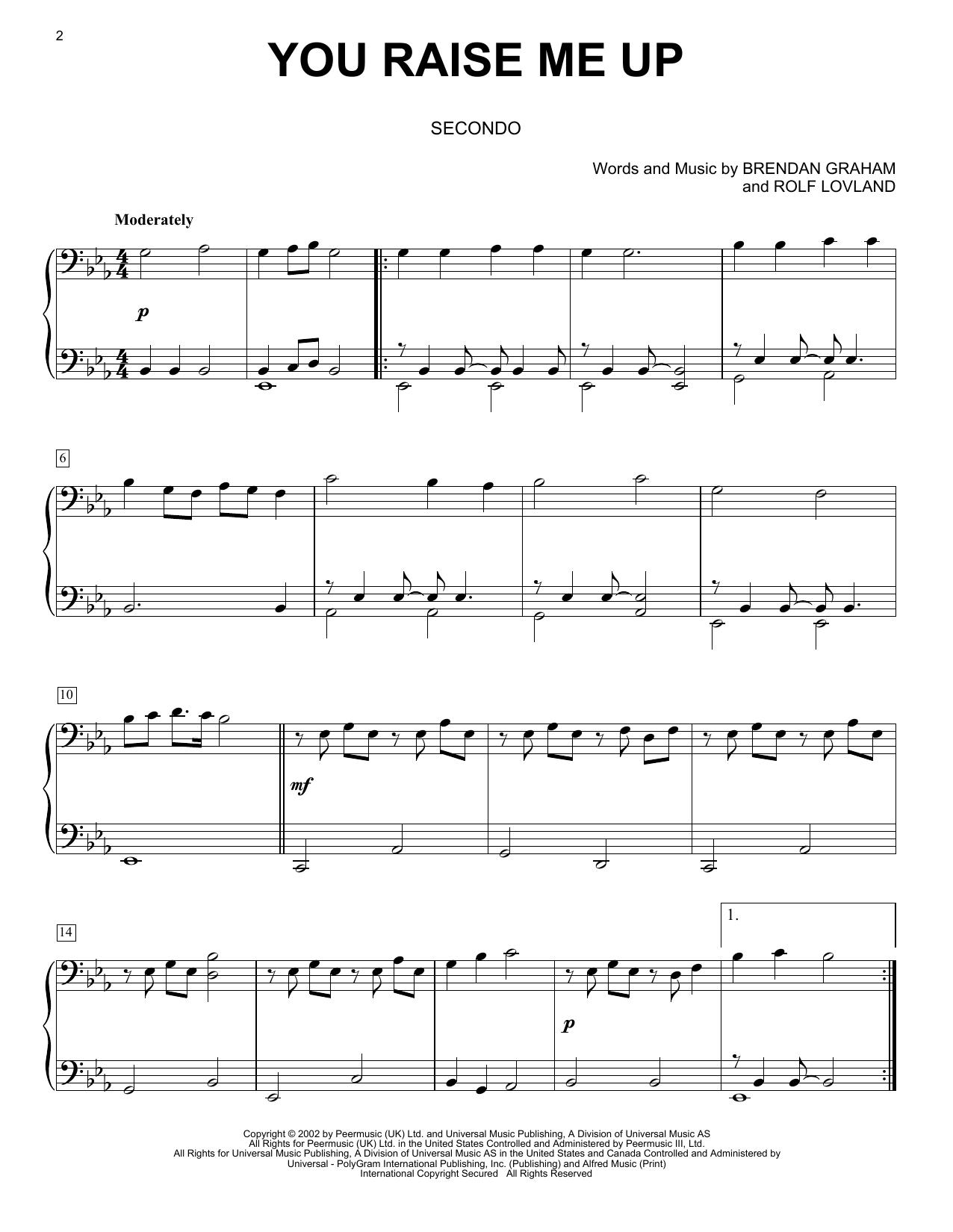 You Raise Me Up (Piano Duet)