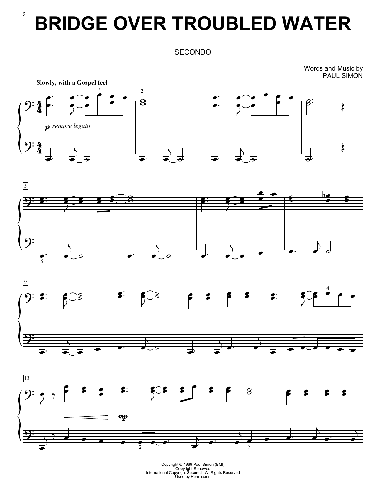 Bridge Over Troubled Water (Piano Duet)