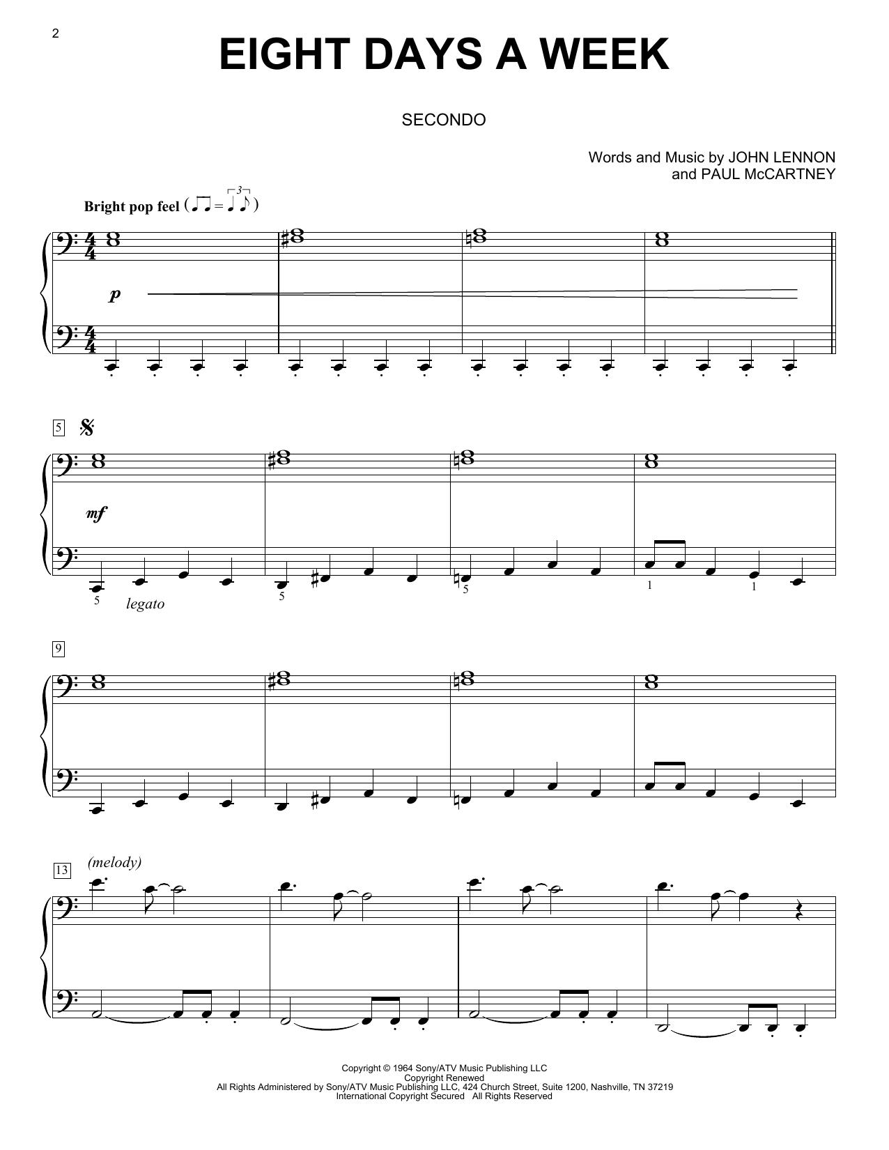 Eight Days A Week (Piano Duet)
