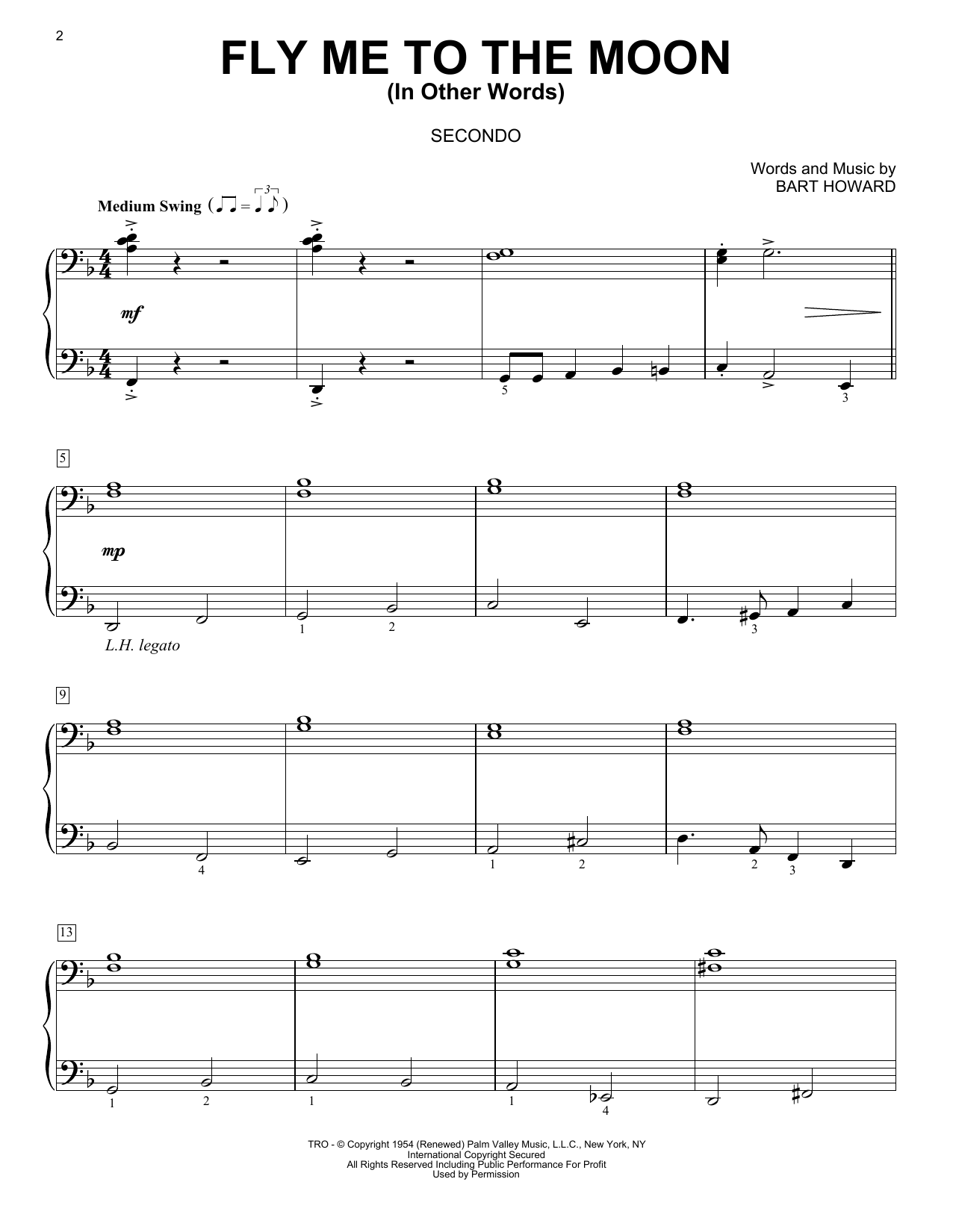 Fly Me To The Moon (In Other Words) (Piano Duet)