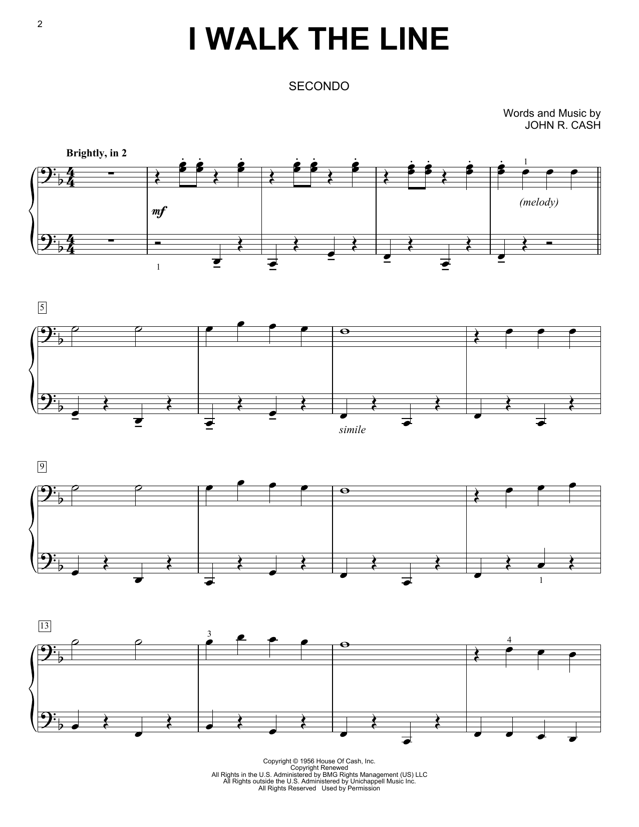 I Walk The Line (Piano Duet)