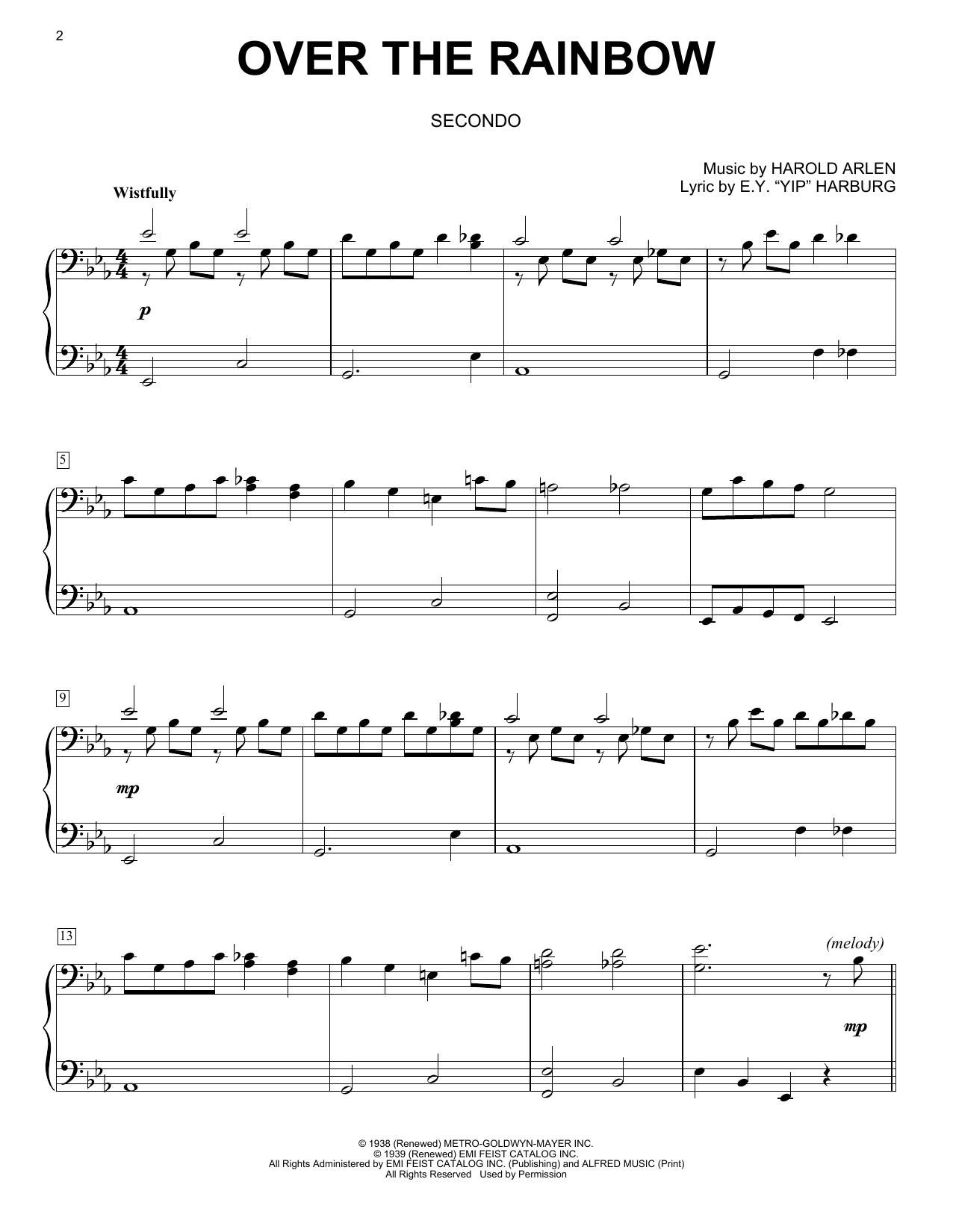Over The Rainbow (Piano Duet)