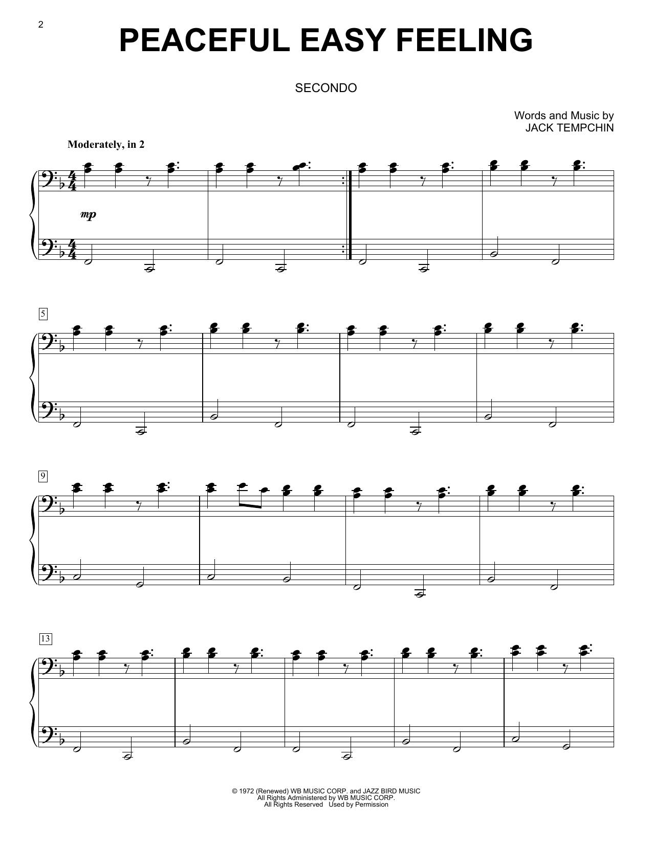 Peaceful Easy Feeling (Piano Duet)