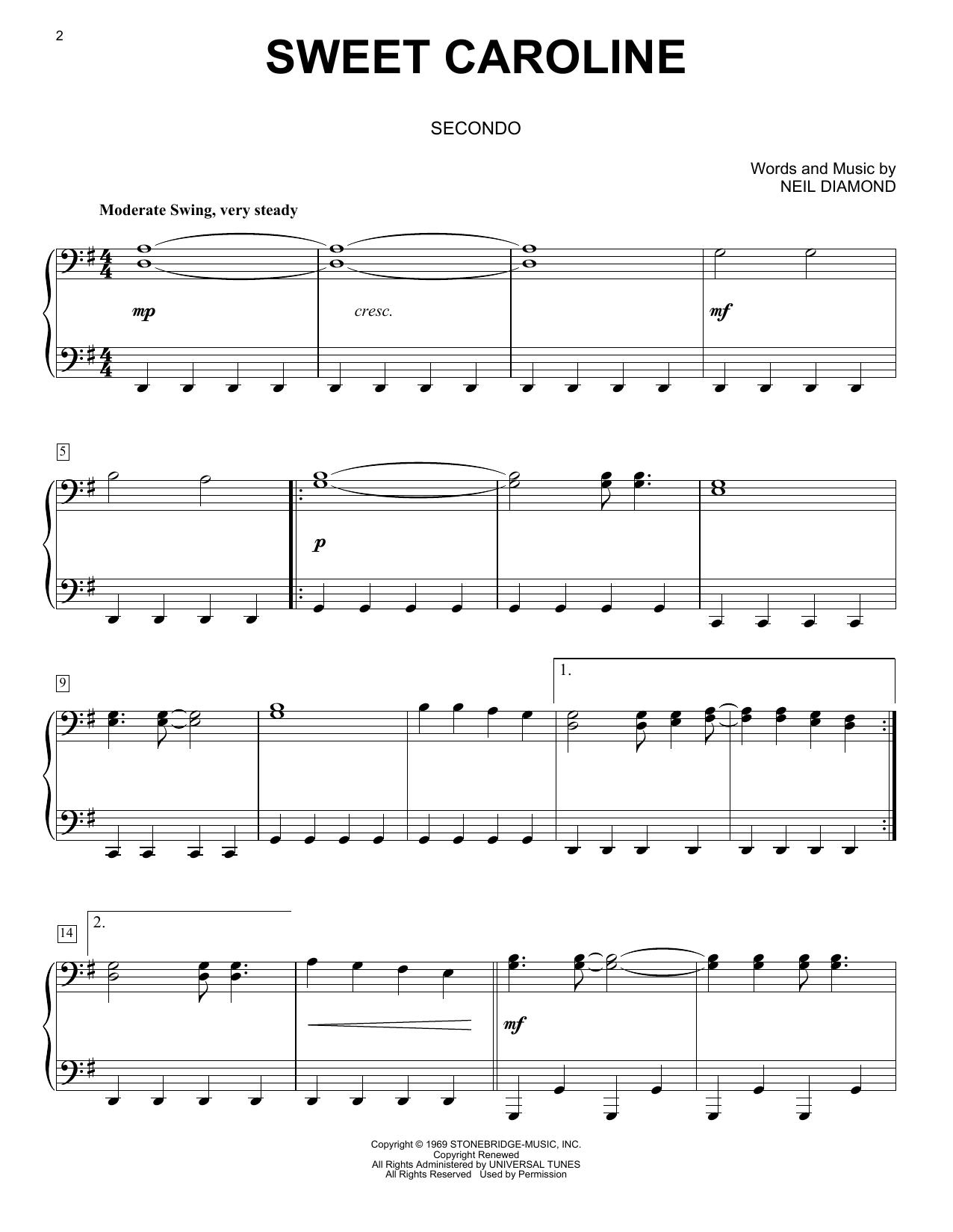 Sweet Caroline (Piano Duet)