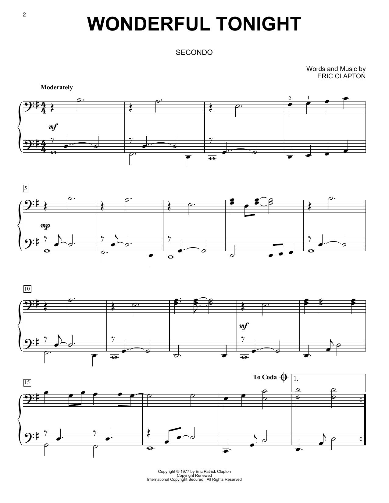 Wonderful Tonight (Piano Duet)