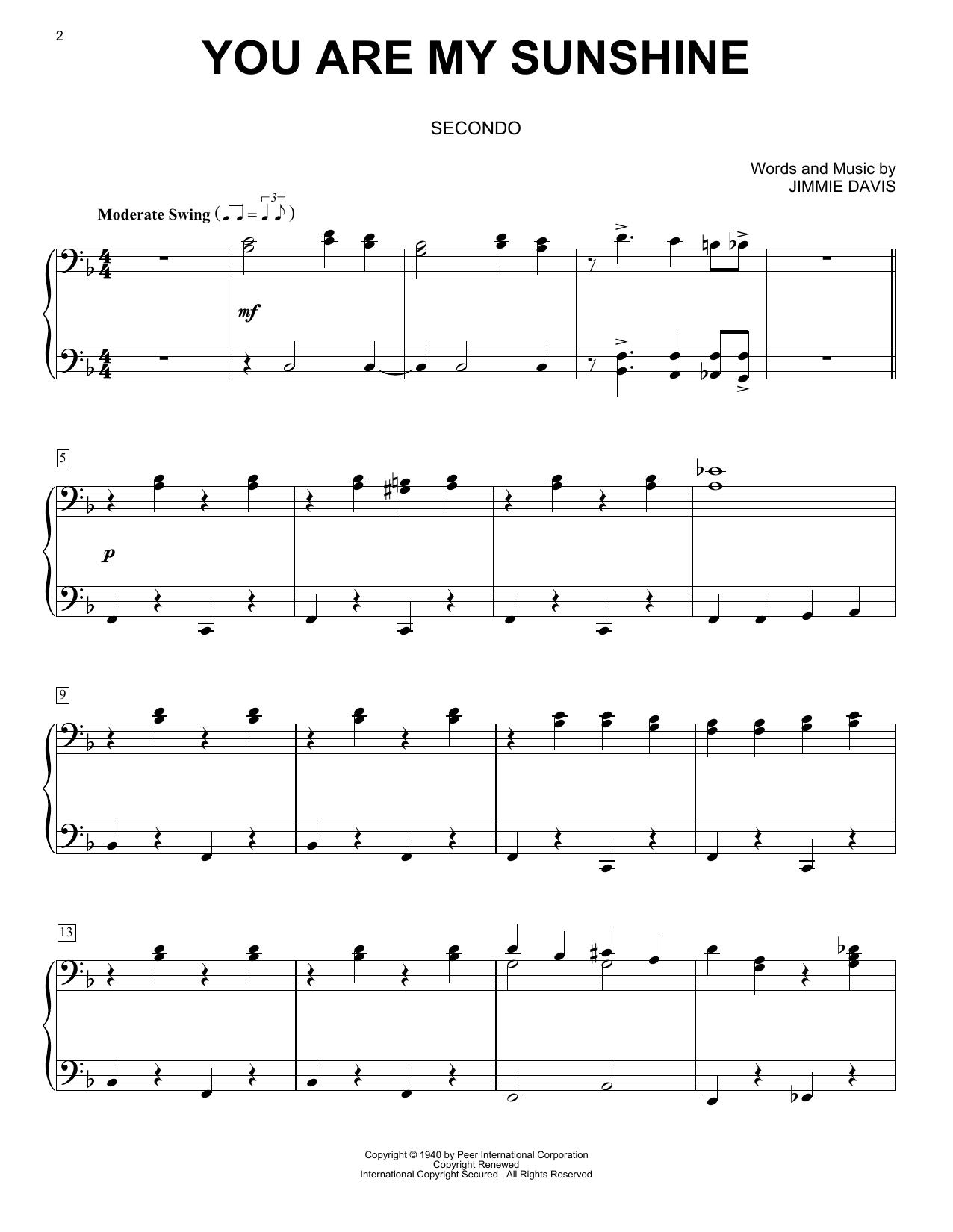 You Are My Sunshine Sheet Music