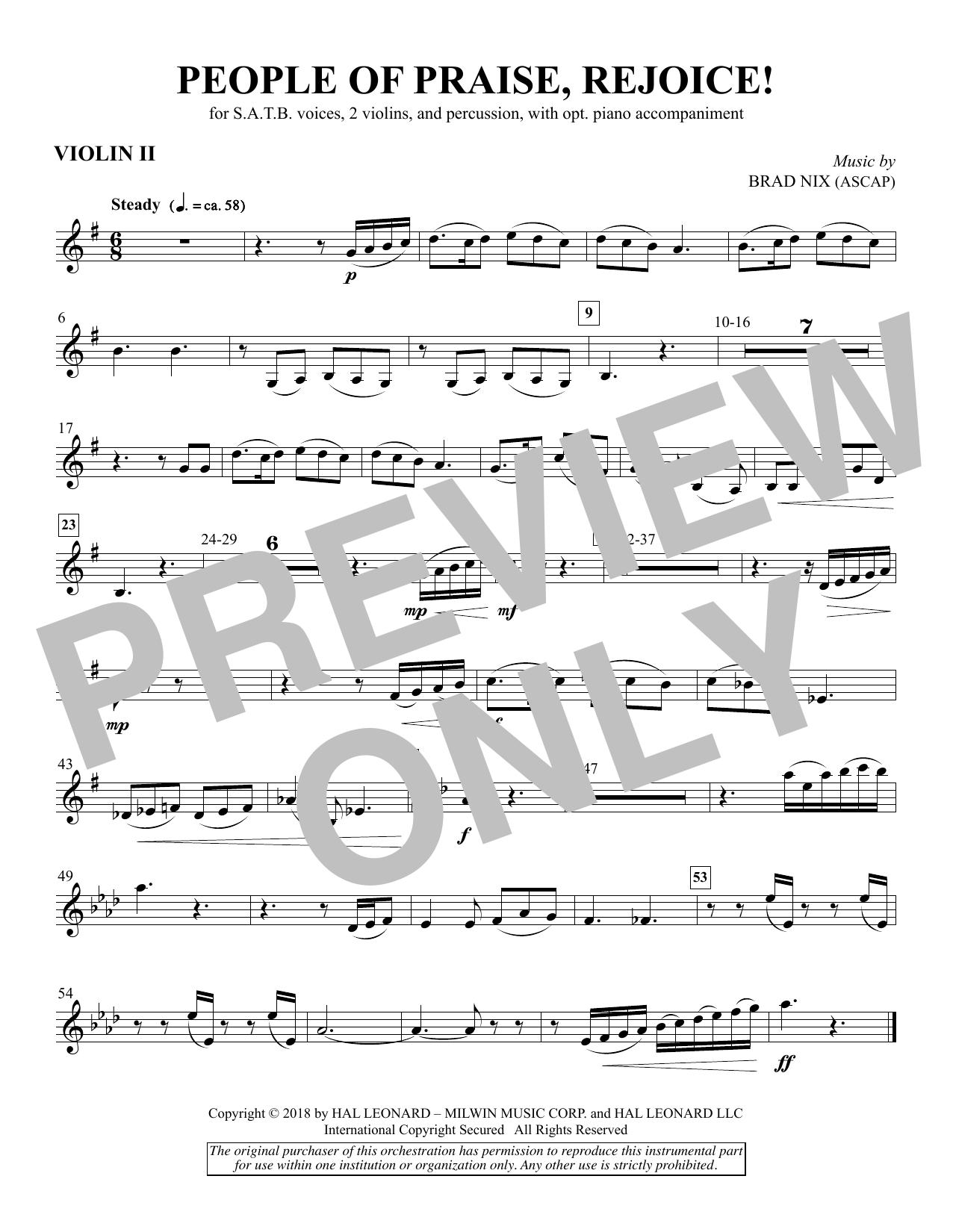 People of Praise, Rejoice! - Violin 2 (Choir Instrumental Pak)