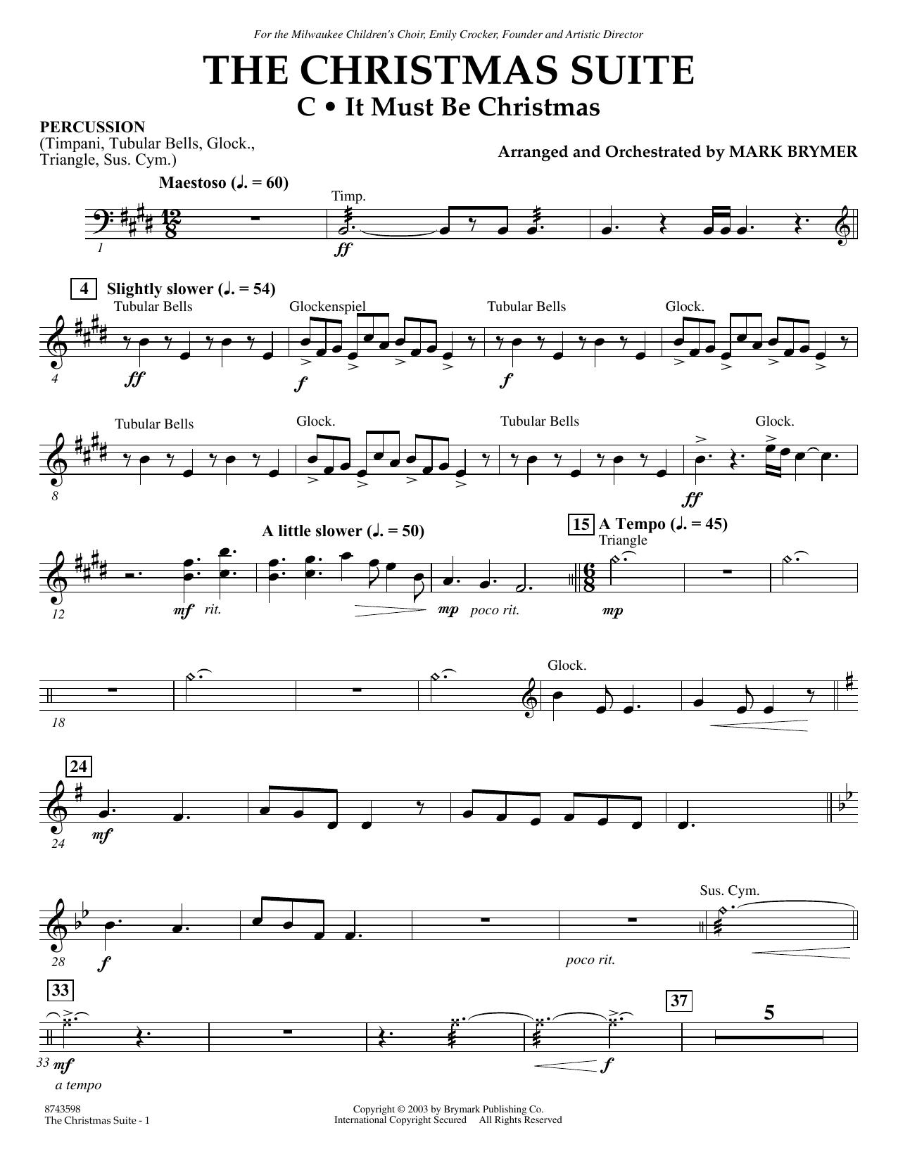 The Christmas Suite (For SSA Choir & Soloist) - Percussion (Choir Instrumental Pak)