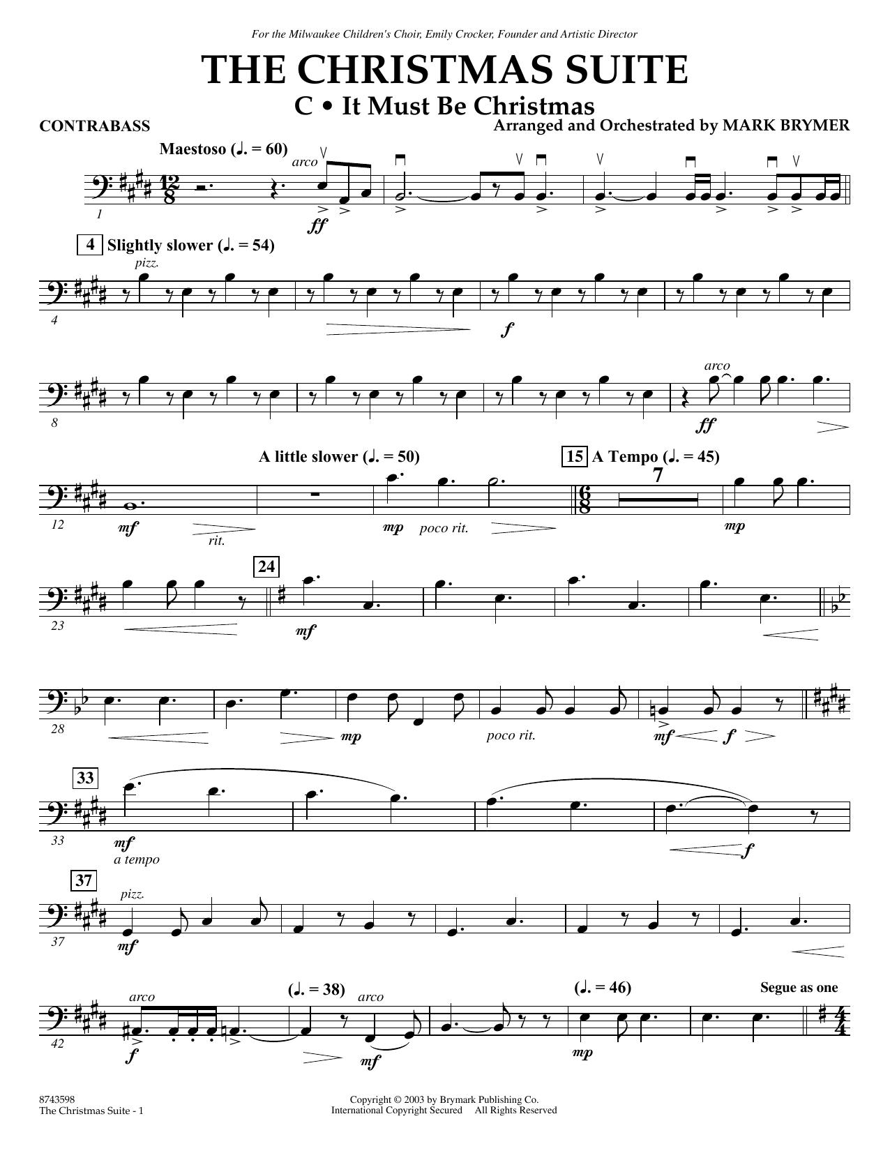 The Christmas Suite (For SSA Choir & Soloist) - Contrabass (Choir Instrumental Pak)