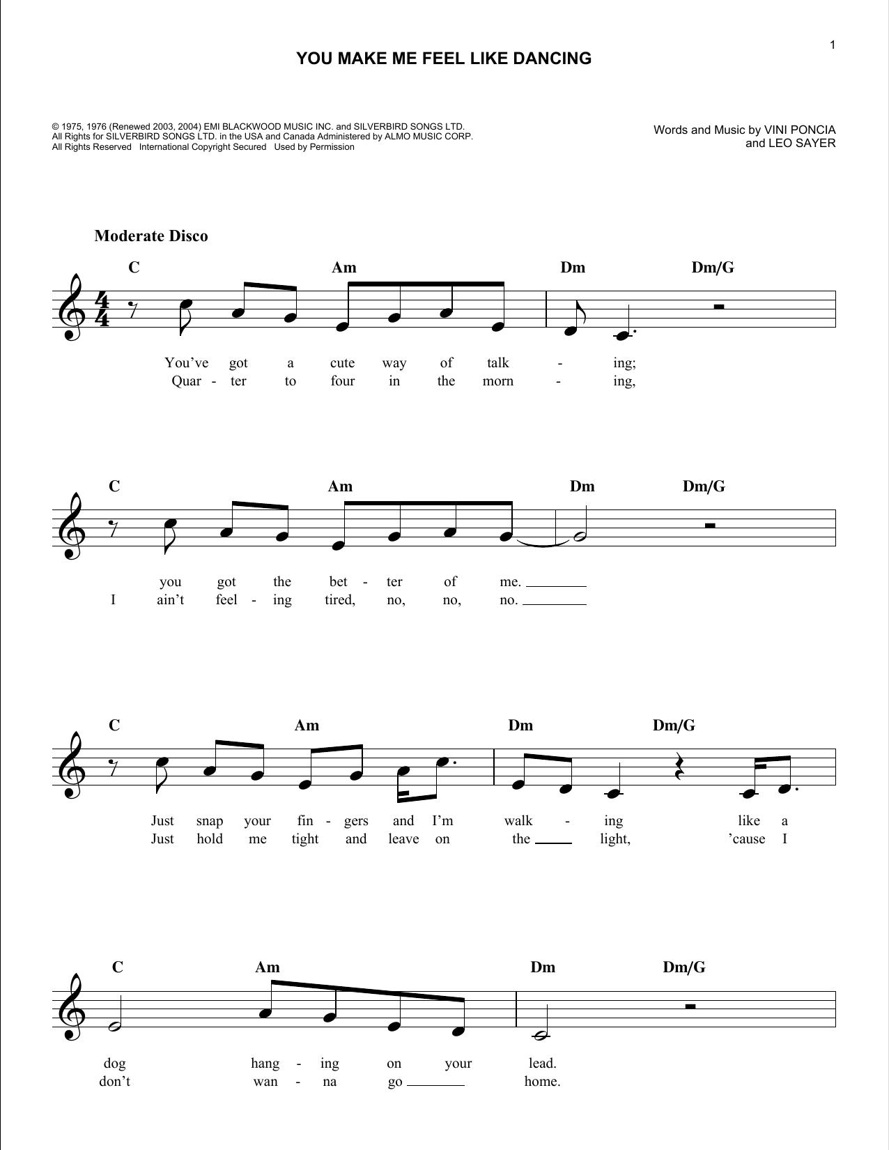 You Make Me Feel Like Dancing (Lead Sheet / Fake Book)
