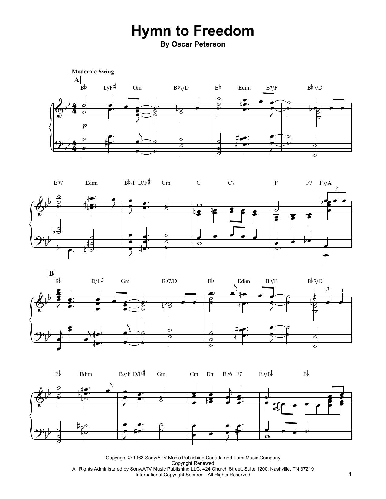 Hymn To Freedom (Piano Transcription)