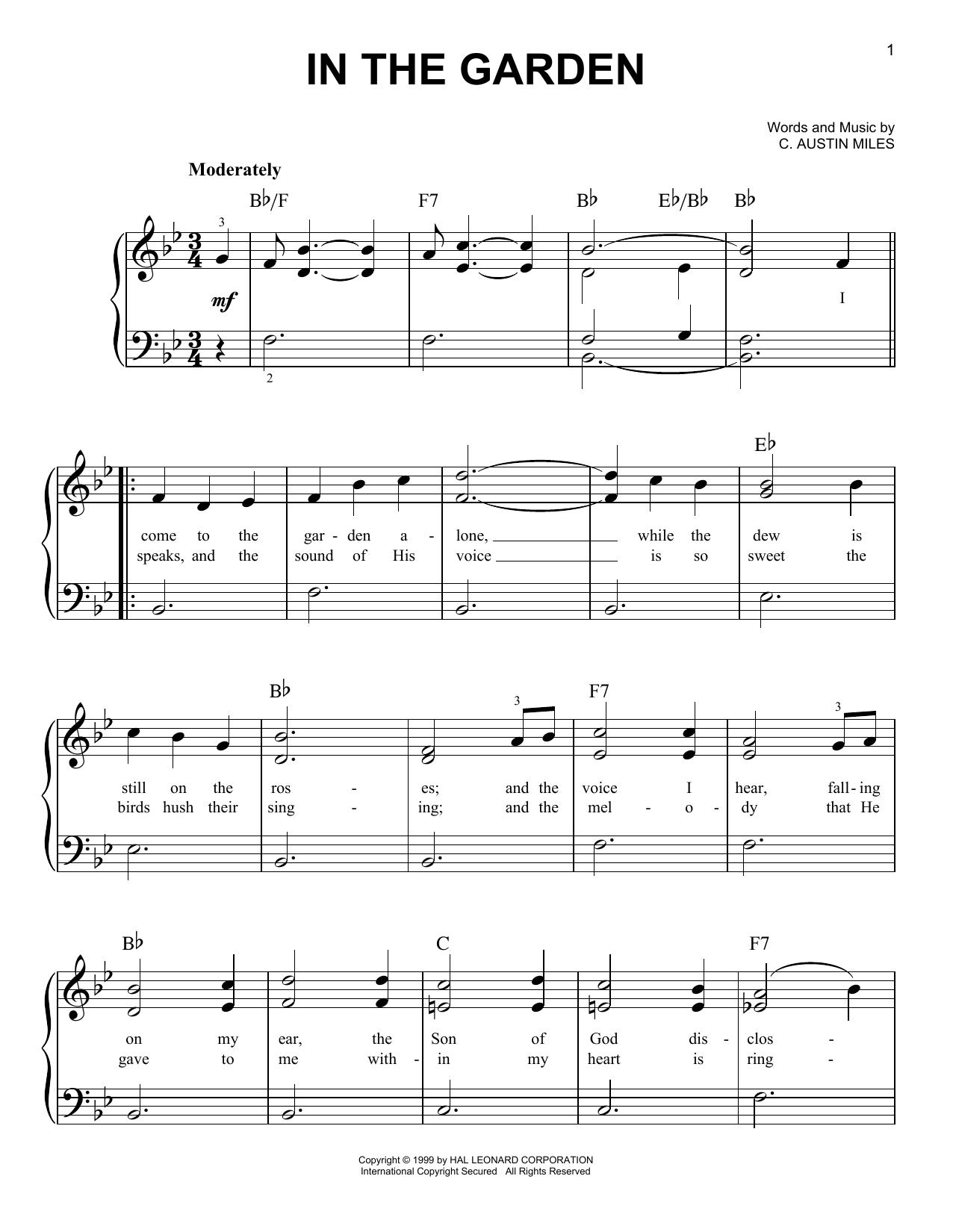 In The Garden (Easy Piano)