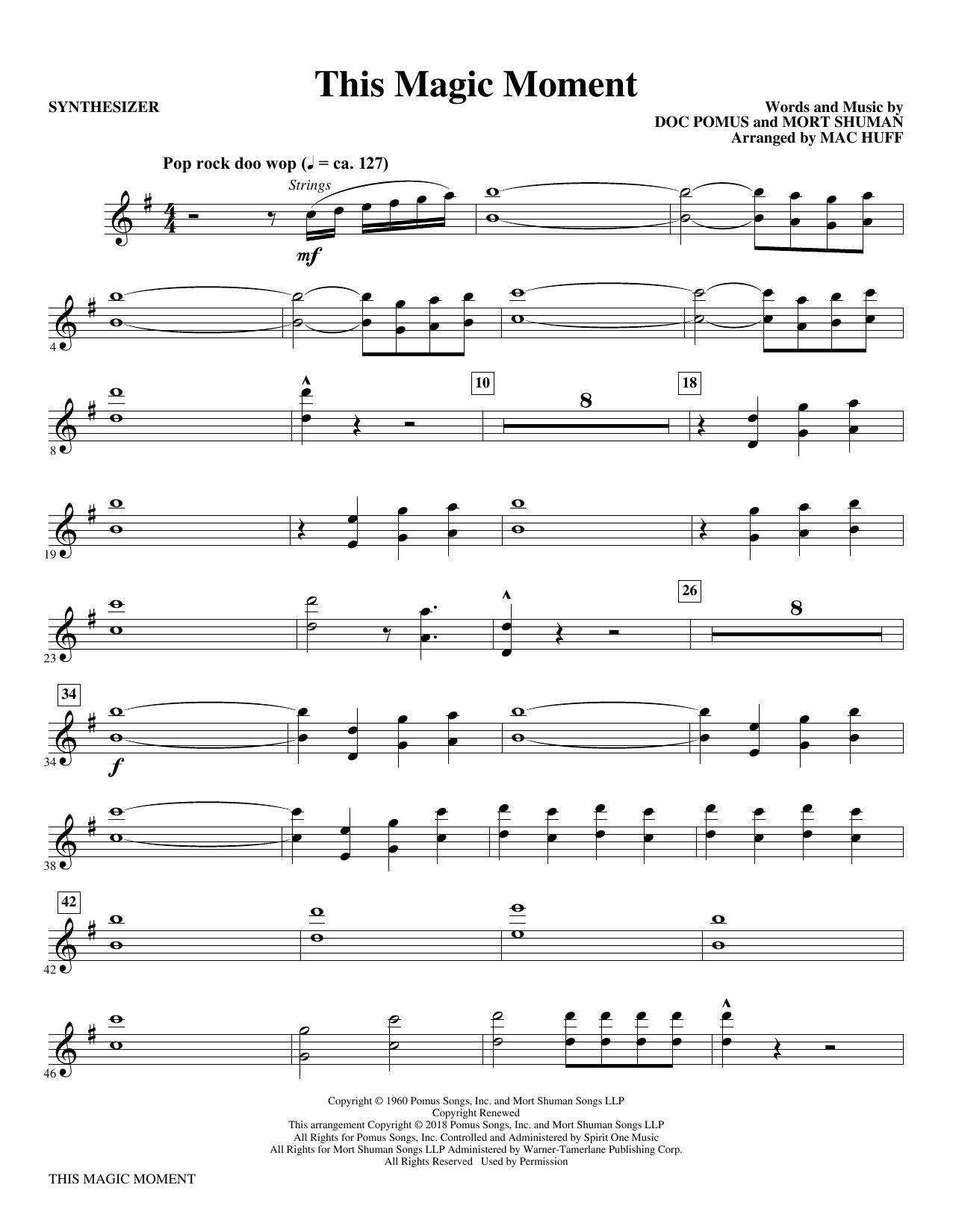 This Magic Moment  (Arr. Mac Huff) - Synthesizer (Choir Instrumental Pak)