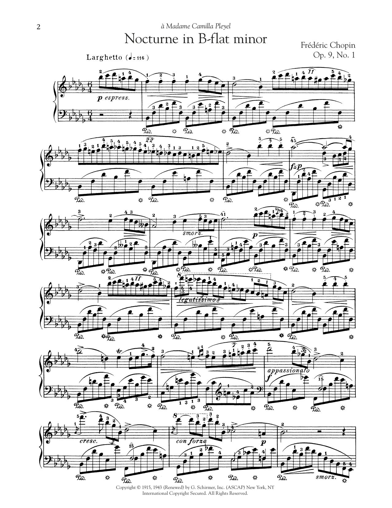 Nocturne, Op. 9, No. 1 (Piano Solo)