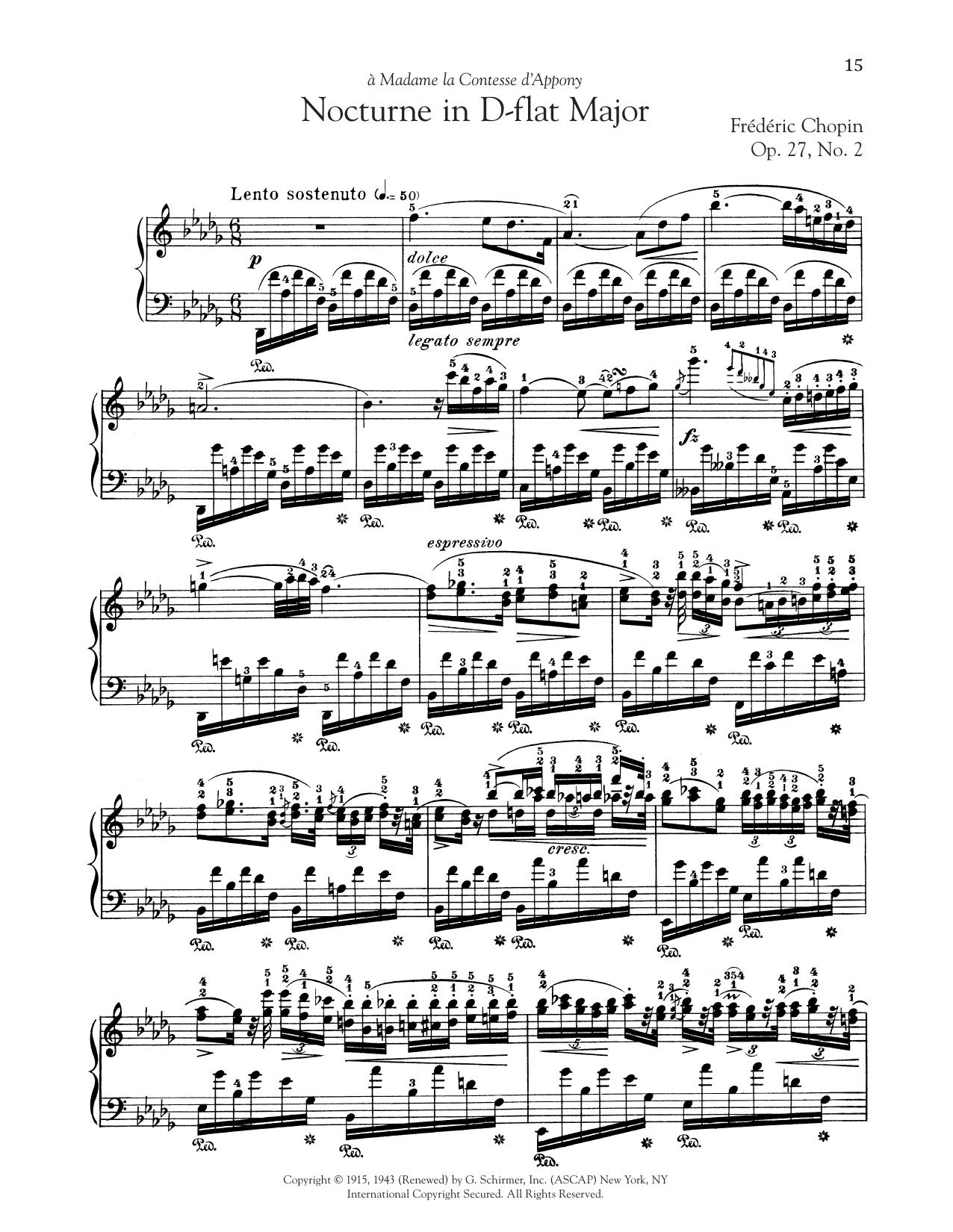 Nocturne, Op. 27, No. 2 (Piano Solo)