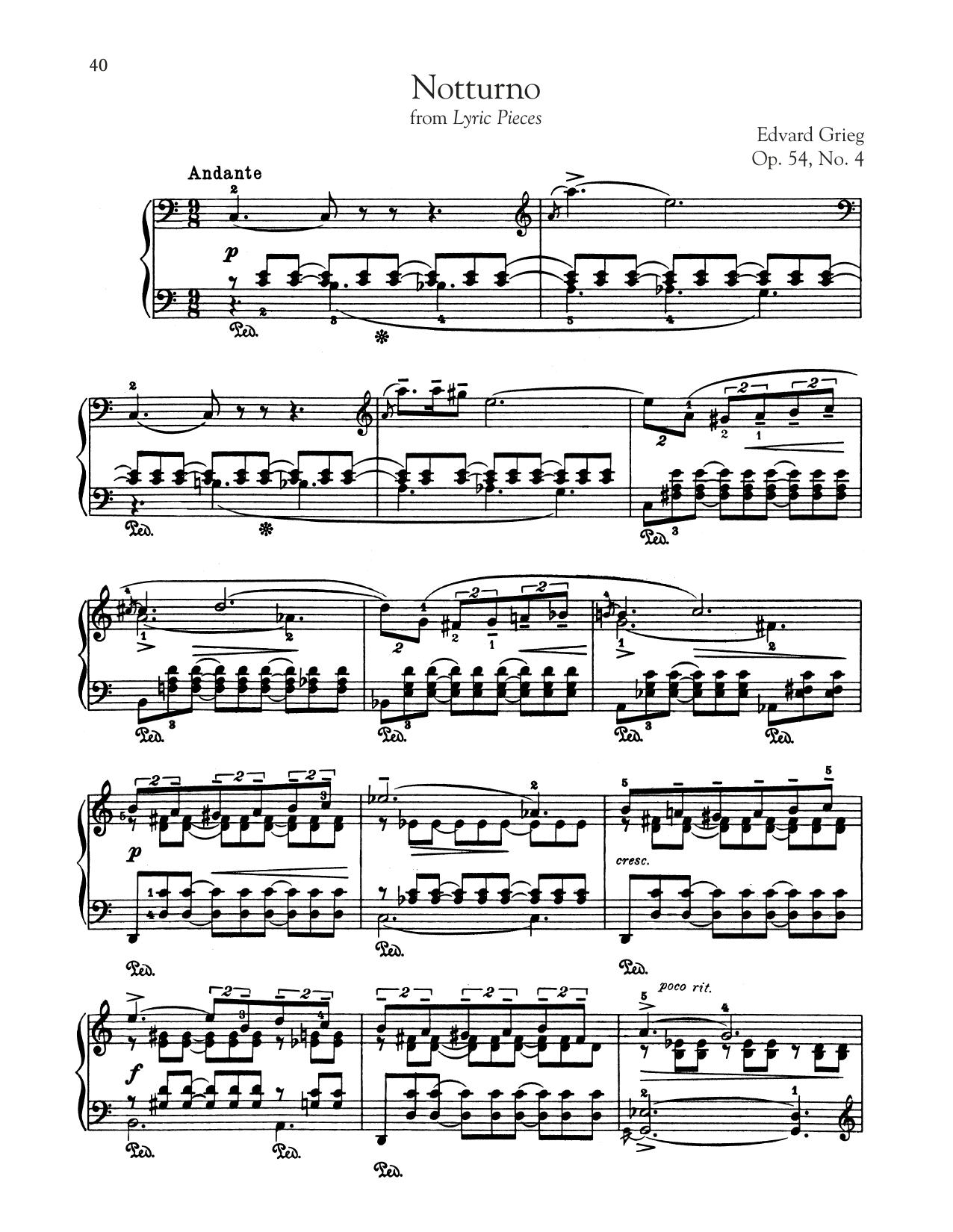Notturno, Op. 54, No. 4 (Piano Solo)