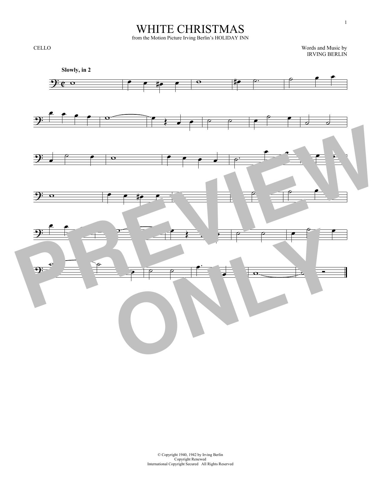 White Christmas (Cello Solo)