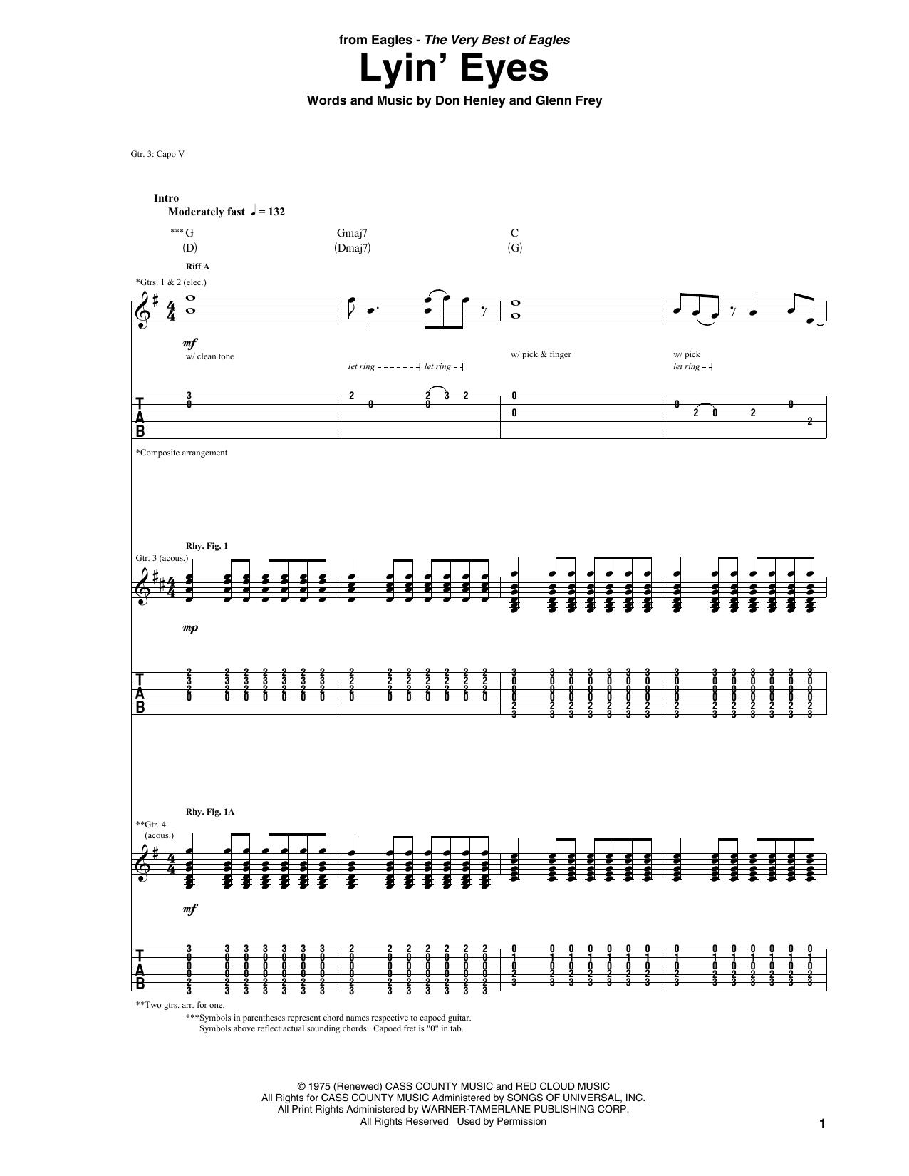 Lyin' Eyes (Guitar Tab)