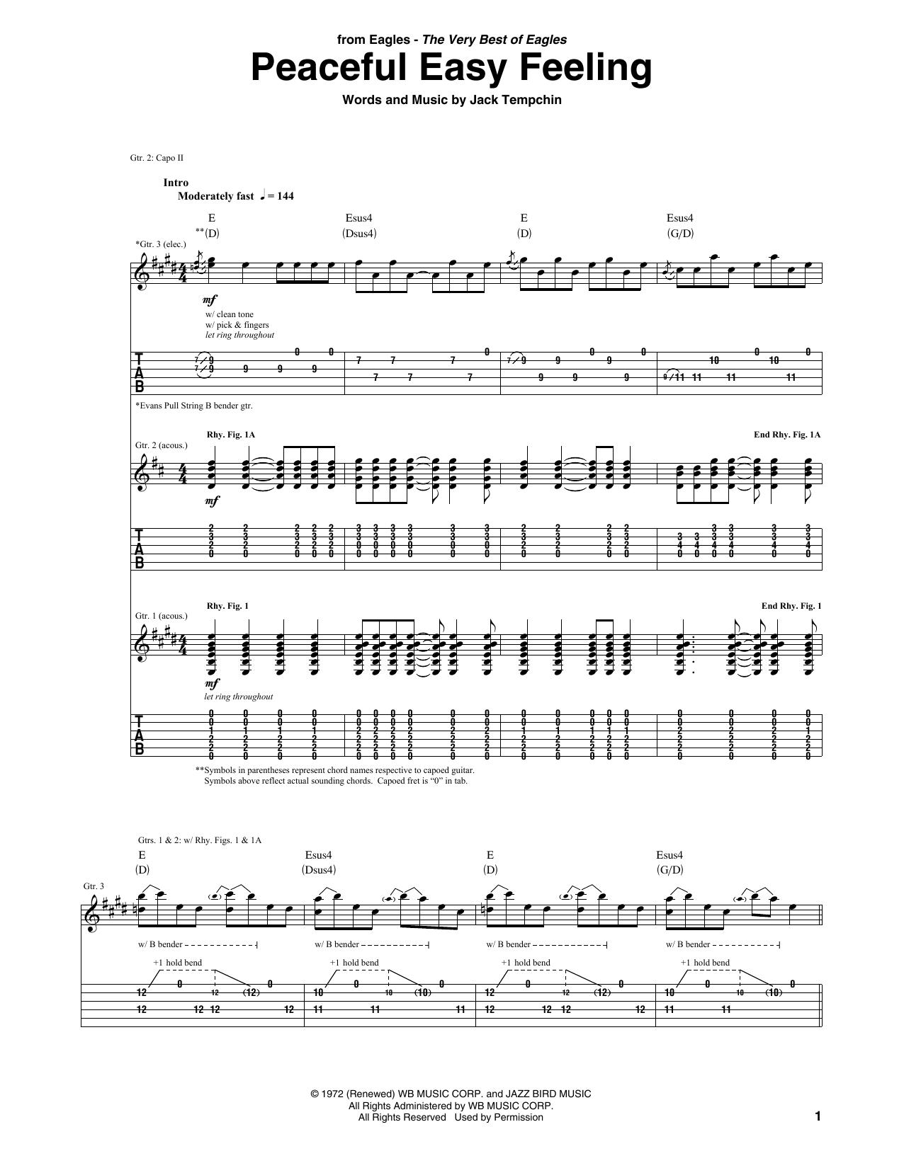 Peaceful Easy Feeling (Guitar Tab)