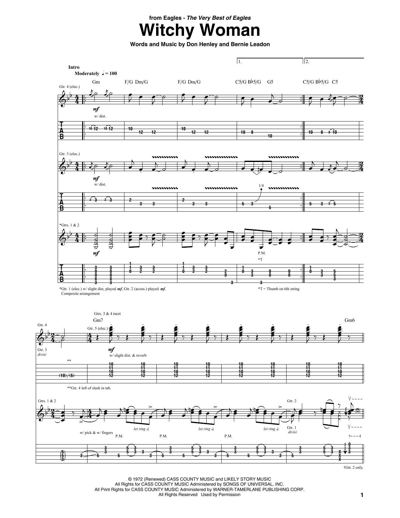 Witchy Woman (Guitar Tab)