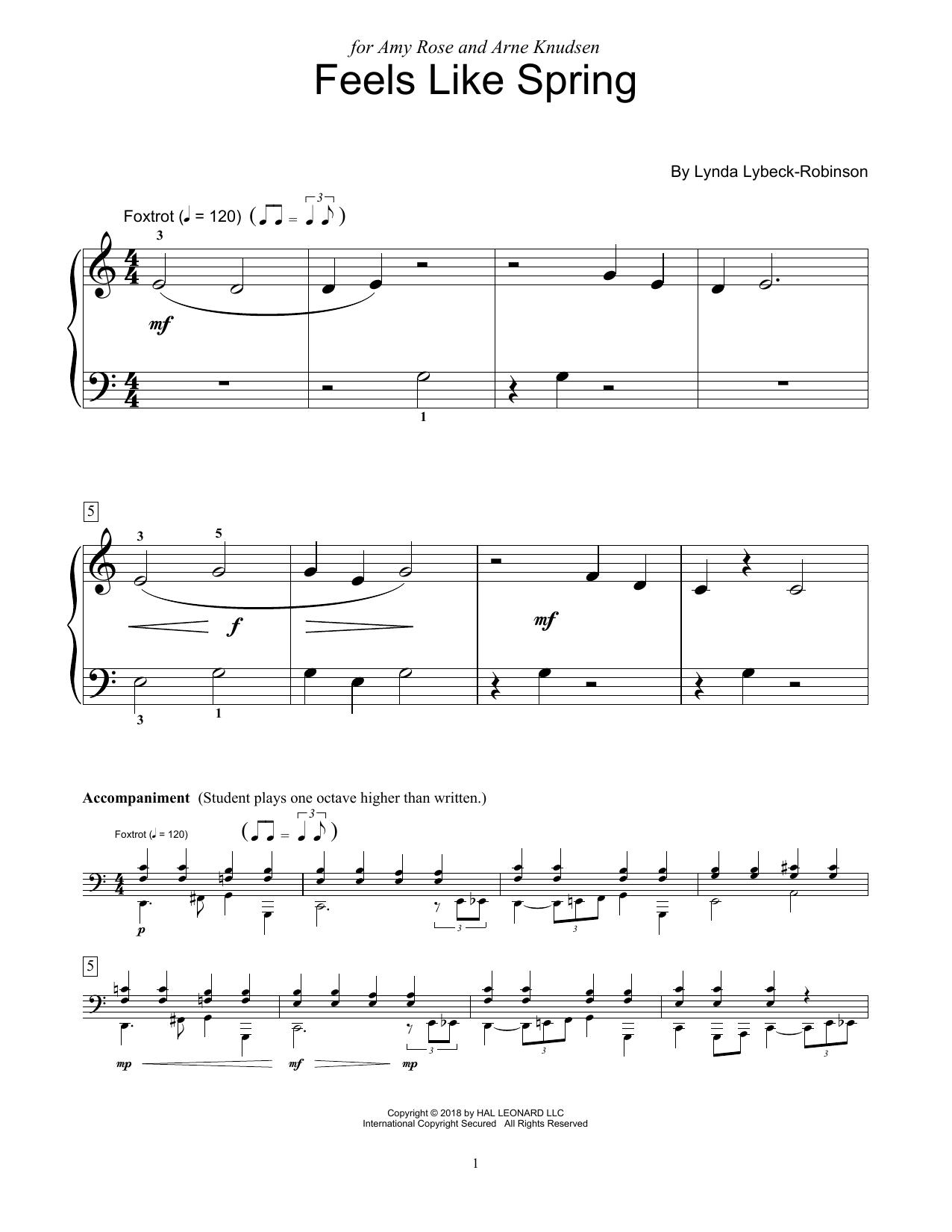 Feels Like Spring (Educational Piano)