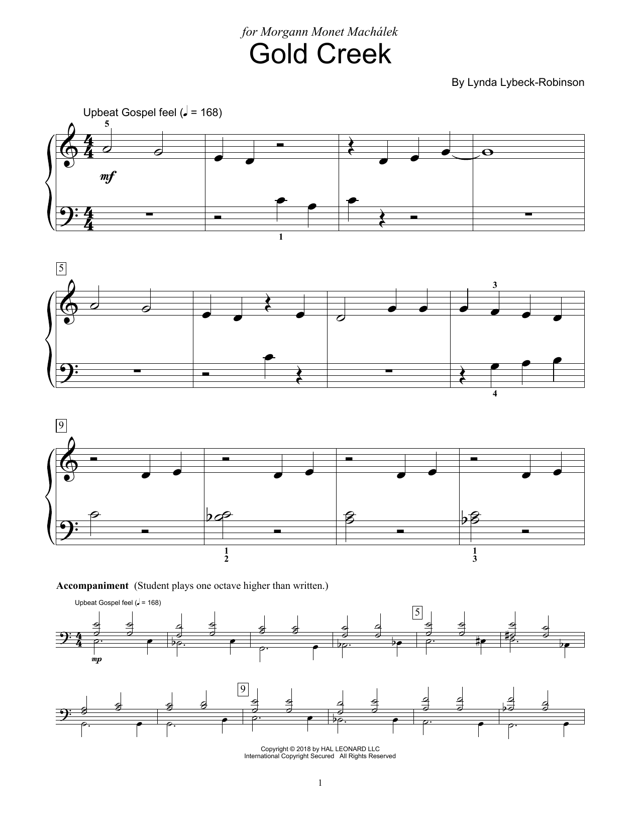Gold Creek (Educational Piano)