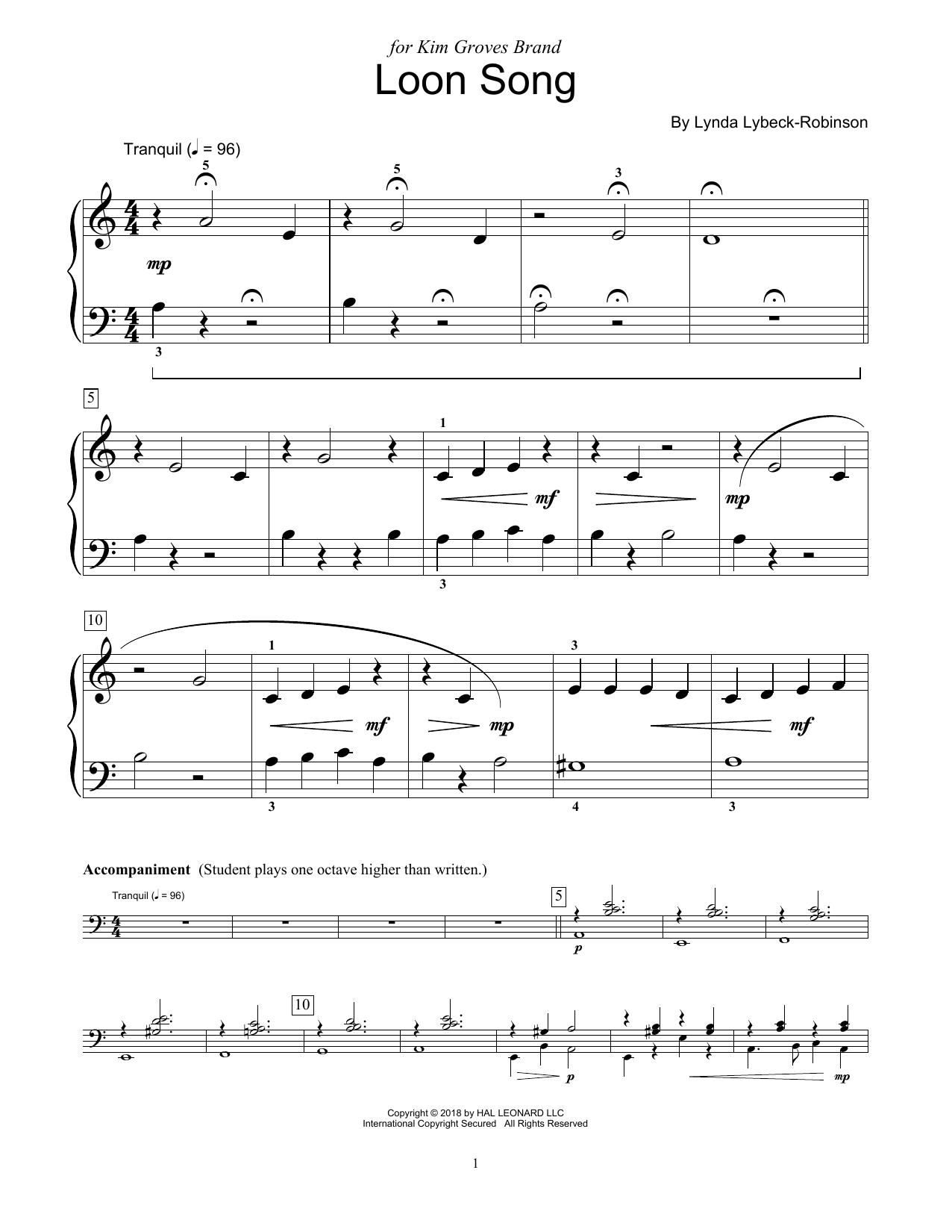 Loon Song (Educational Piano)
