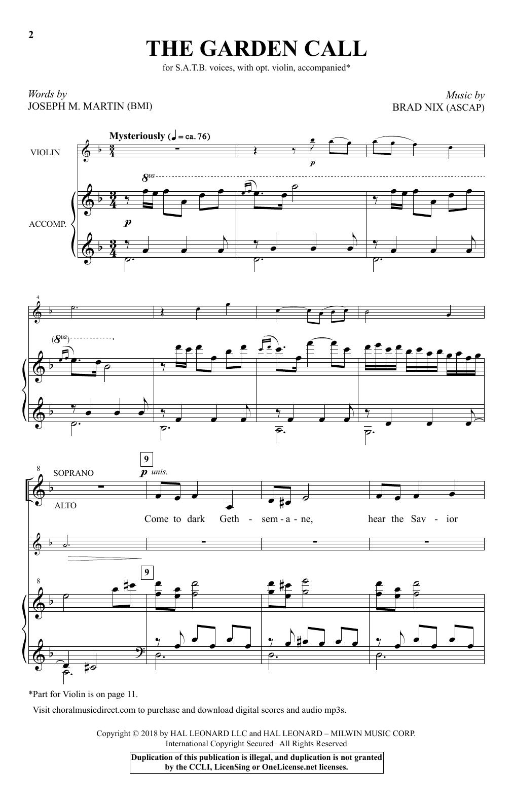 The Garden Call (SATB Choir)